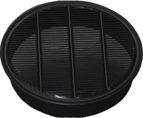 RLS Series Louver, Standard Collar, Black, 2""