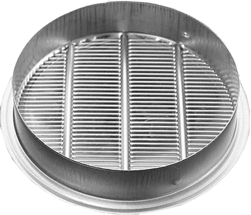 RLS Series Louver, Standard Collar, Mill, 2.5""