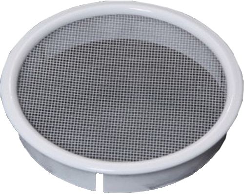 LD Series Louver, Standard Collar, White, 4""