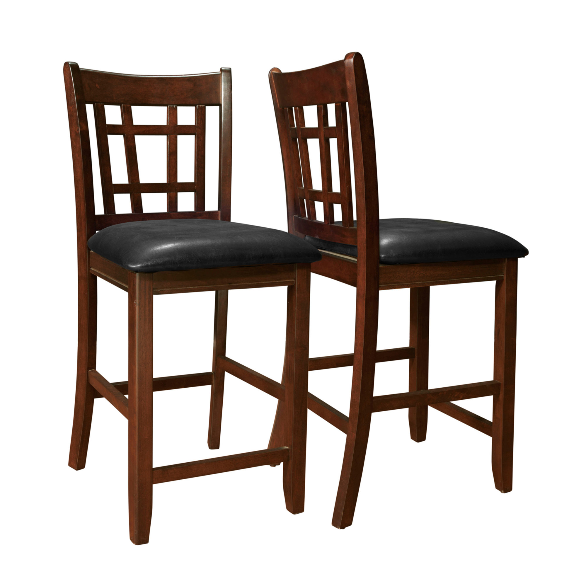 """DINING CHAIR - 2PCS / 41""""H / CAPPUCCINO / BLACK SEAT"""