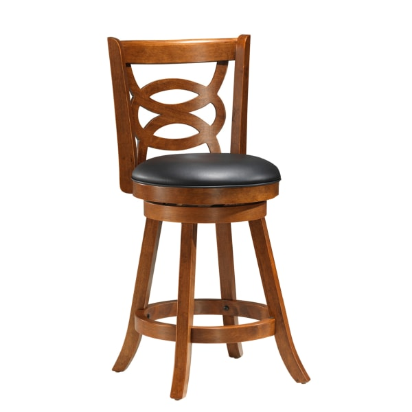 "39"" 2 Pieces Counter Height Swivel Barstool, Oak"
