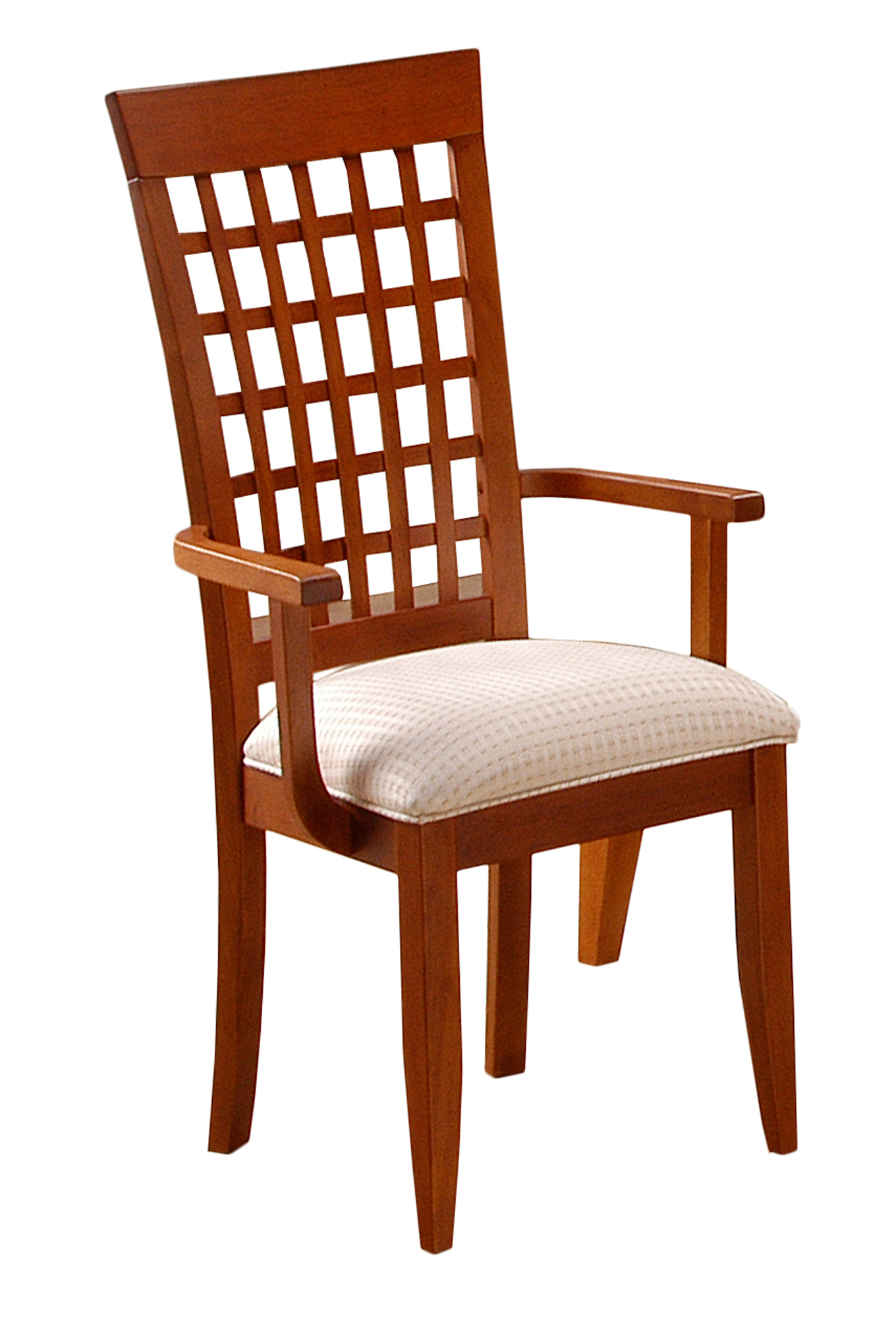 """DINING CHAIR - 2PCS / AMARETTO """"WEAVE BACK"""" STYLE"""