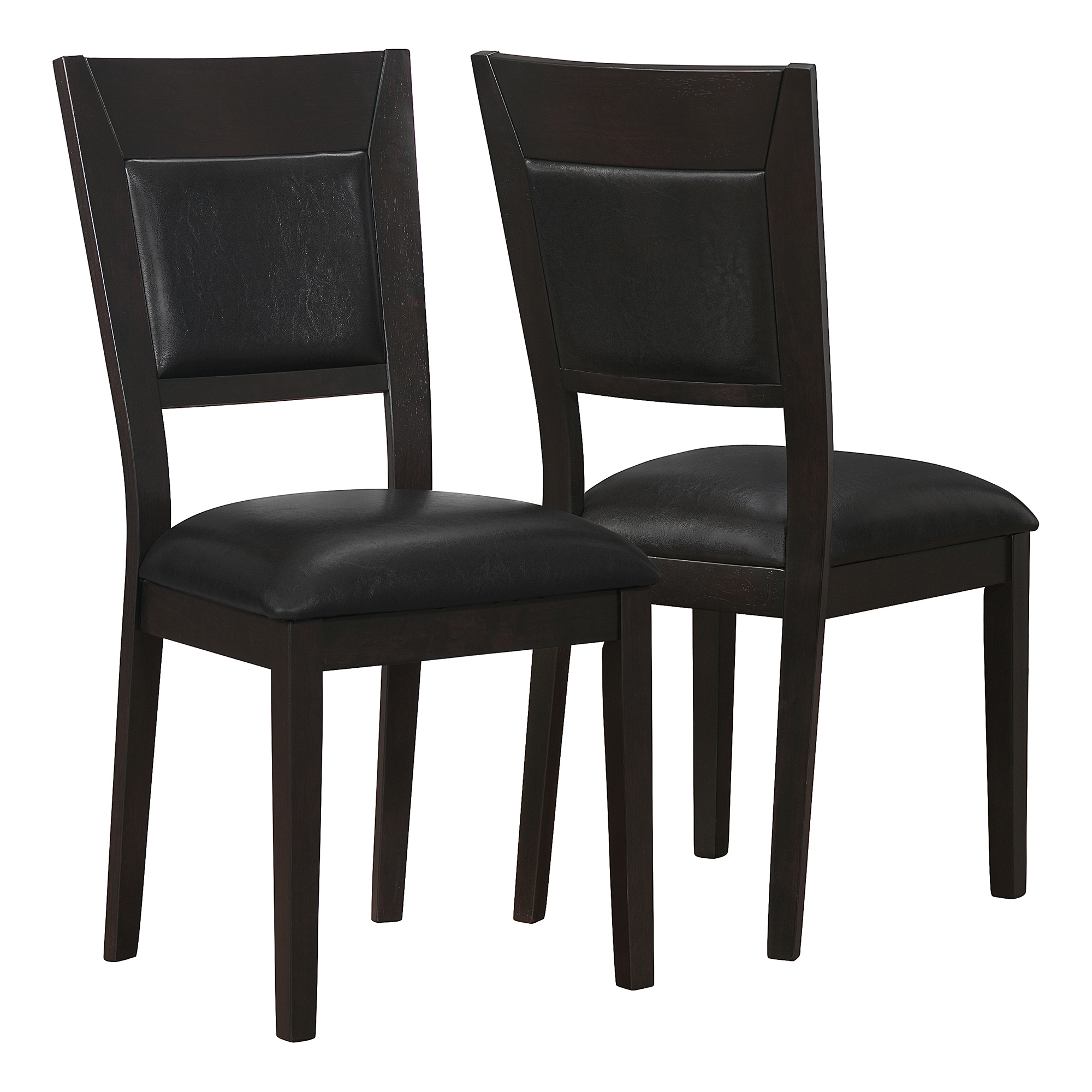 """DINING CHAIR - 2PCS / 39""""H / CAPPUCCINO / BROWN SEAT"""