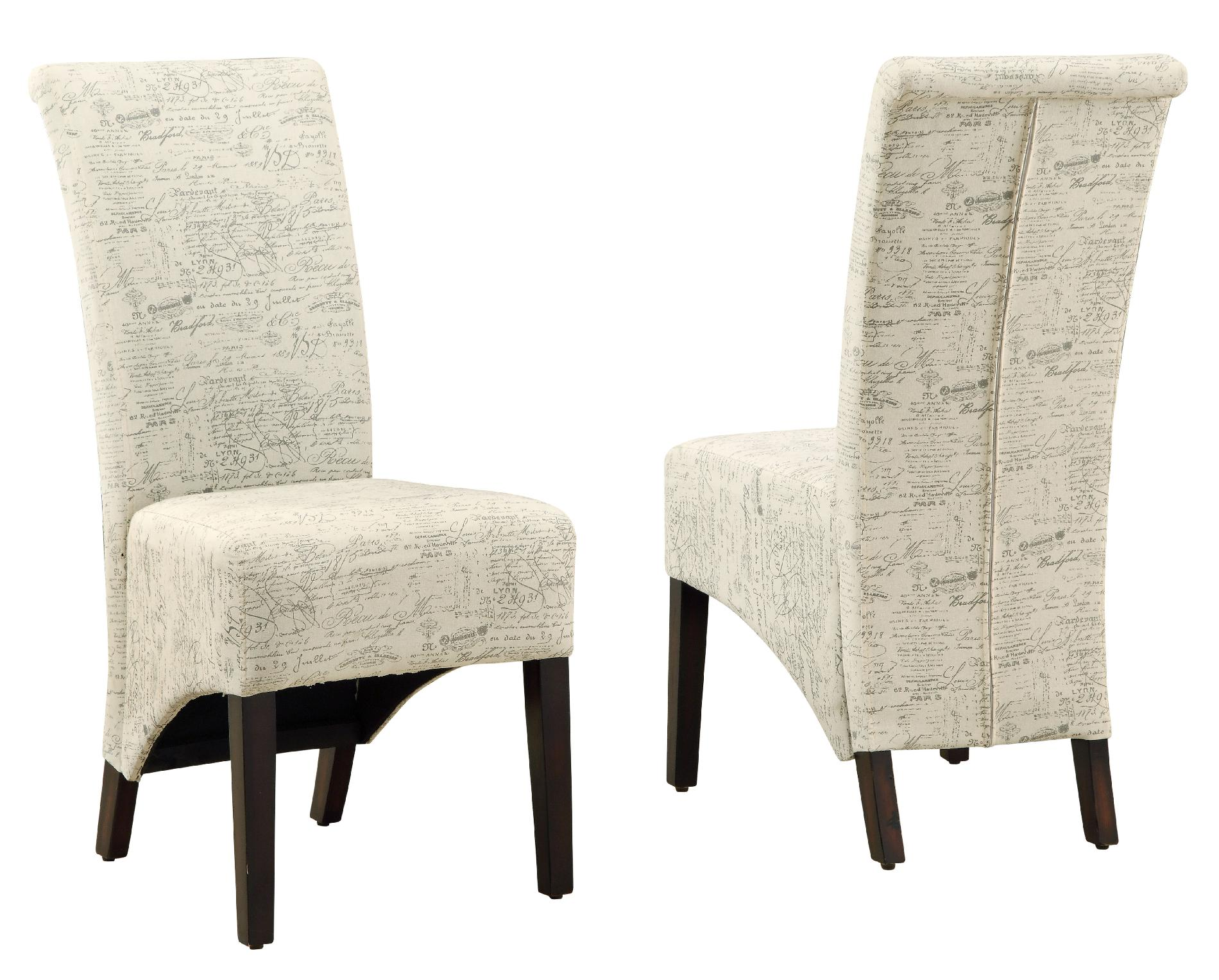 """Dining Chair - 2 Pieces / 40""""H / Vintage French Fabric"""