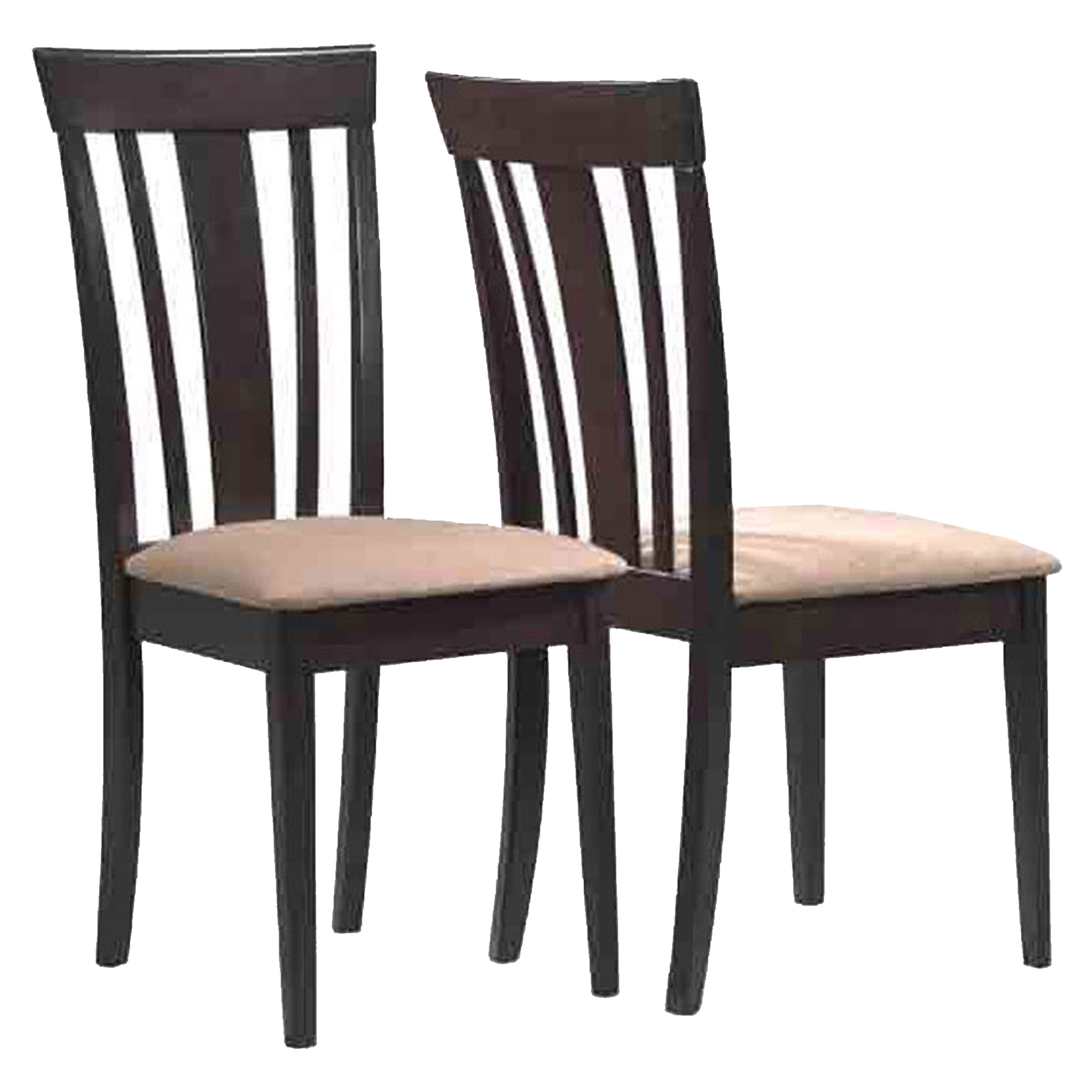 """DINING CHAIR - 2PCS / 38""""H / CAPPUCCINO WITH MICROFIBER"""