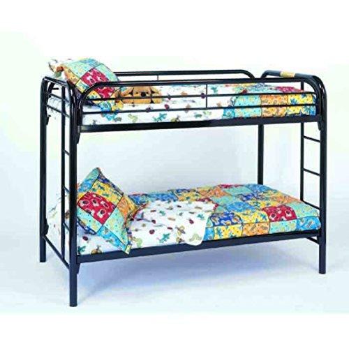 Metal Twin/Twin Bunk Bed, Black