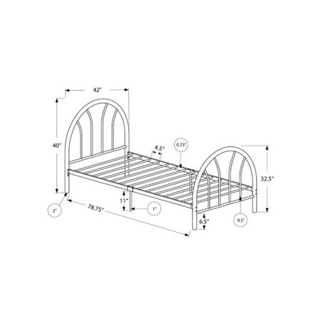 Twin Size Metal Bed Frame, Black