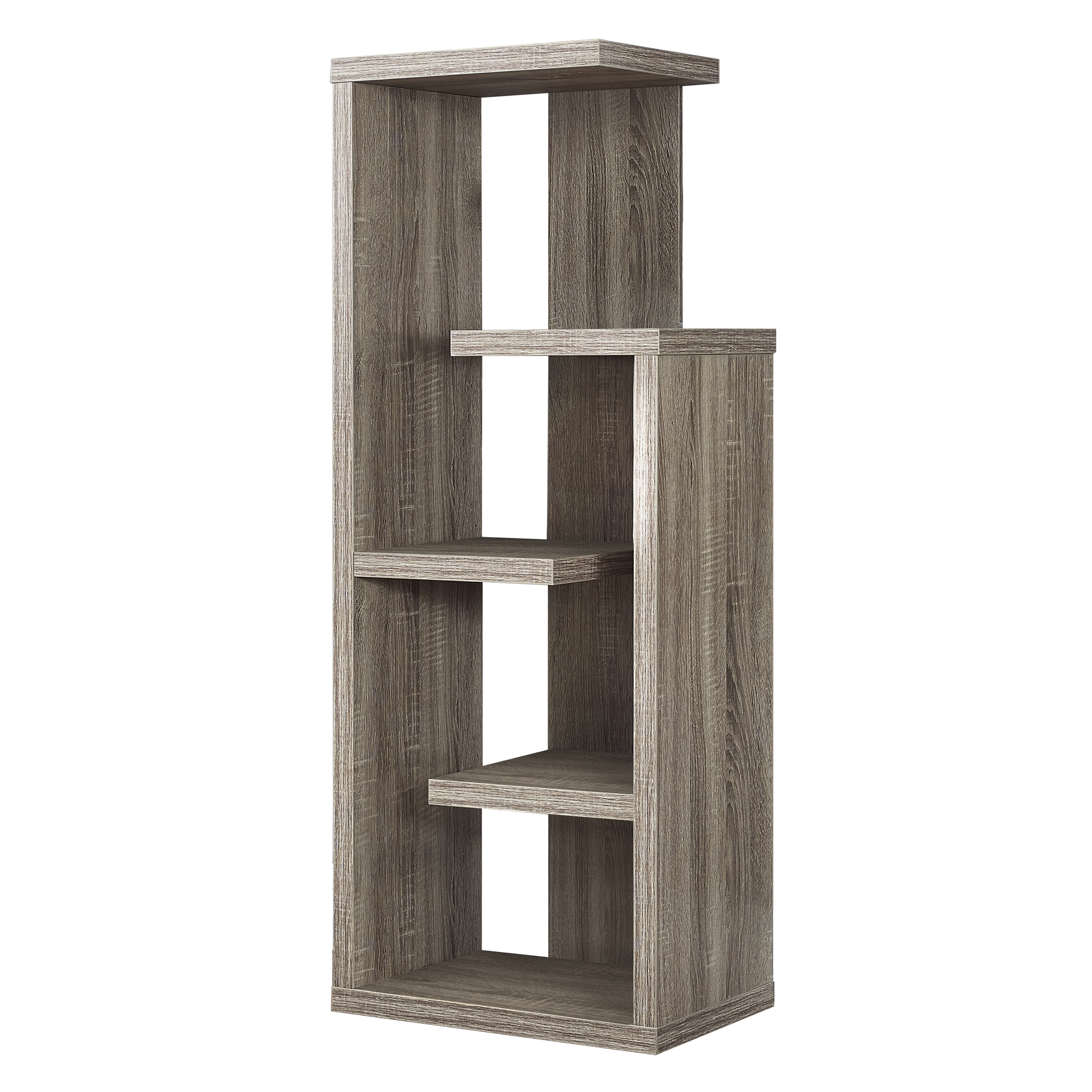 "48""H Accent Display Bookcase, Dark Taupe"