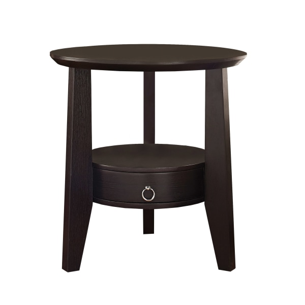 "23"" Accent Table With 1 Drawer, Cappuccino"