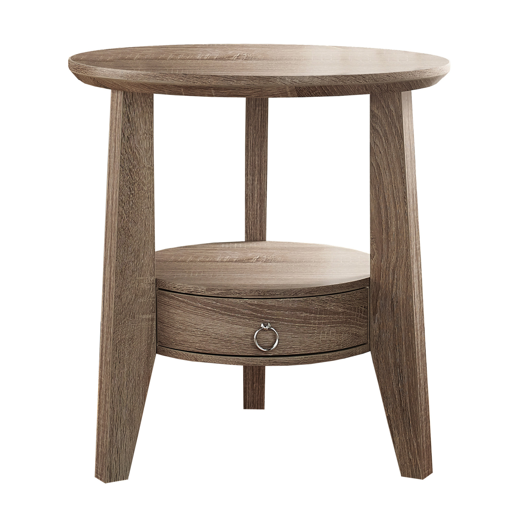 "23"" Accent Table With 1 Drawer, Dark Taupe"