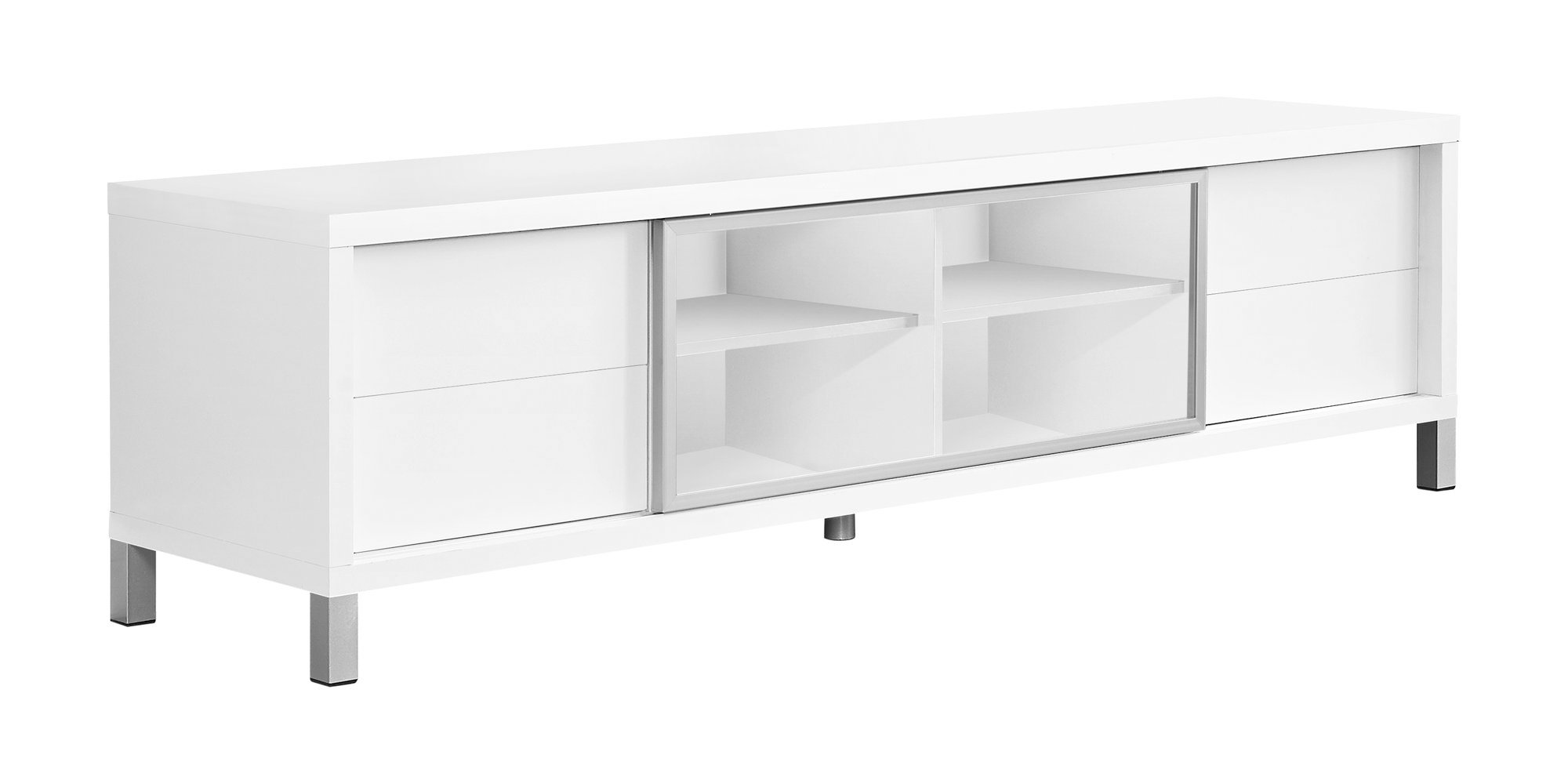 "70""L TV Stand, White Euro Style"