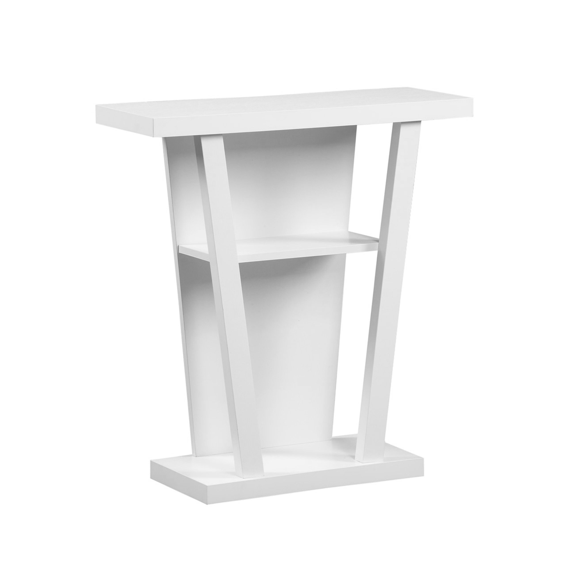 "32""L Accent Table with Hall Console, White"