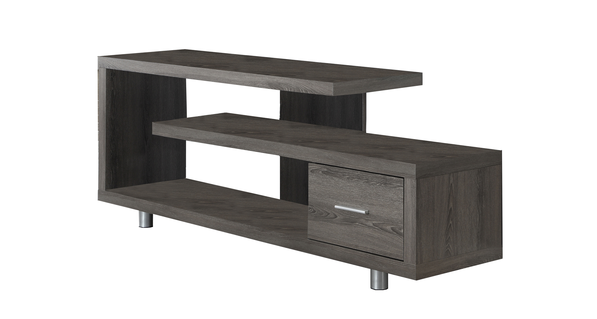 "60""L TV Stand, Dark Taupe"