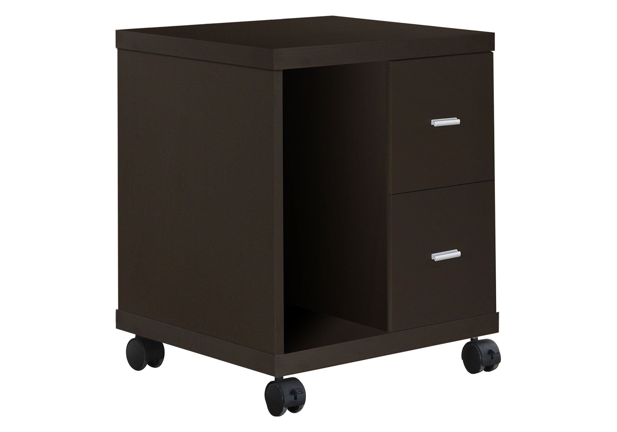 OFFICE CABINET - CAPPUCCINO 2 DRAWER ON CASTORS