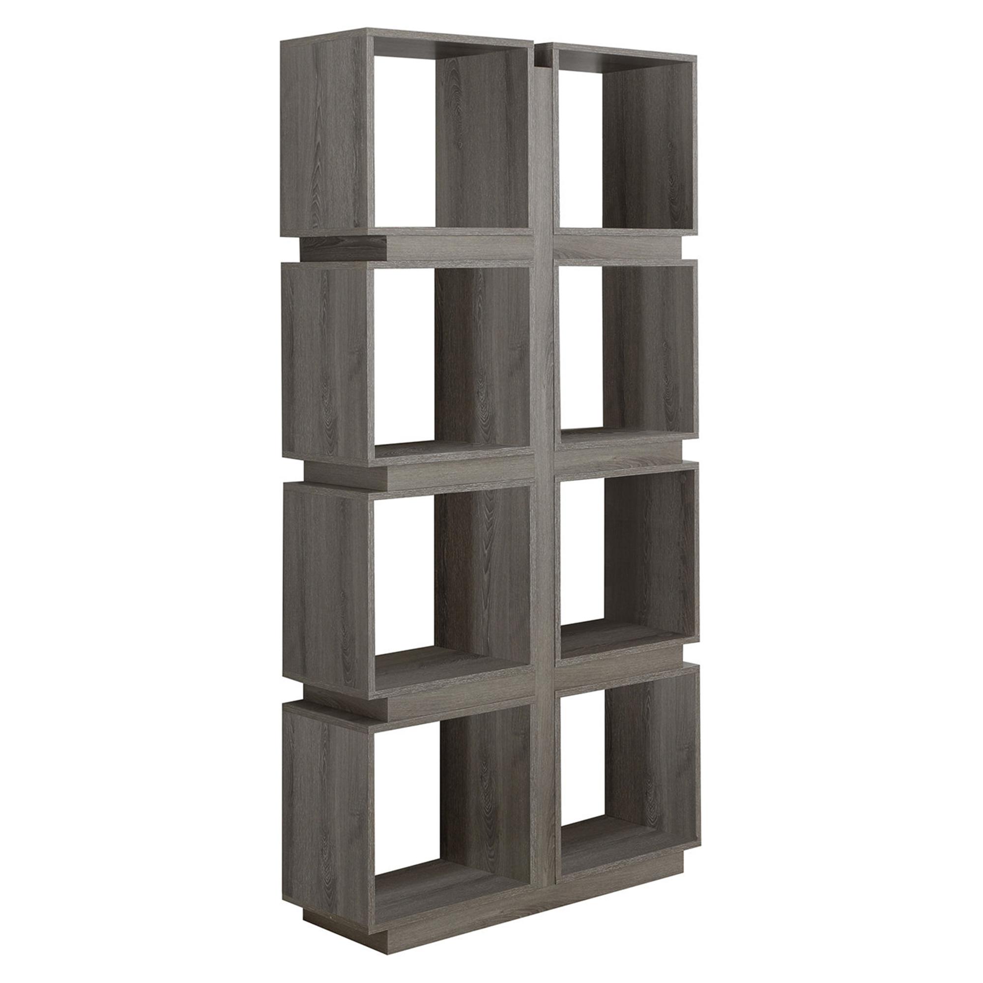 "Bookcase - 71""H / Dark Taupe"