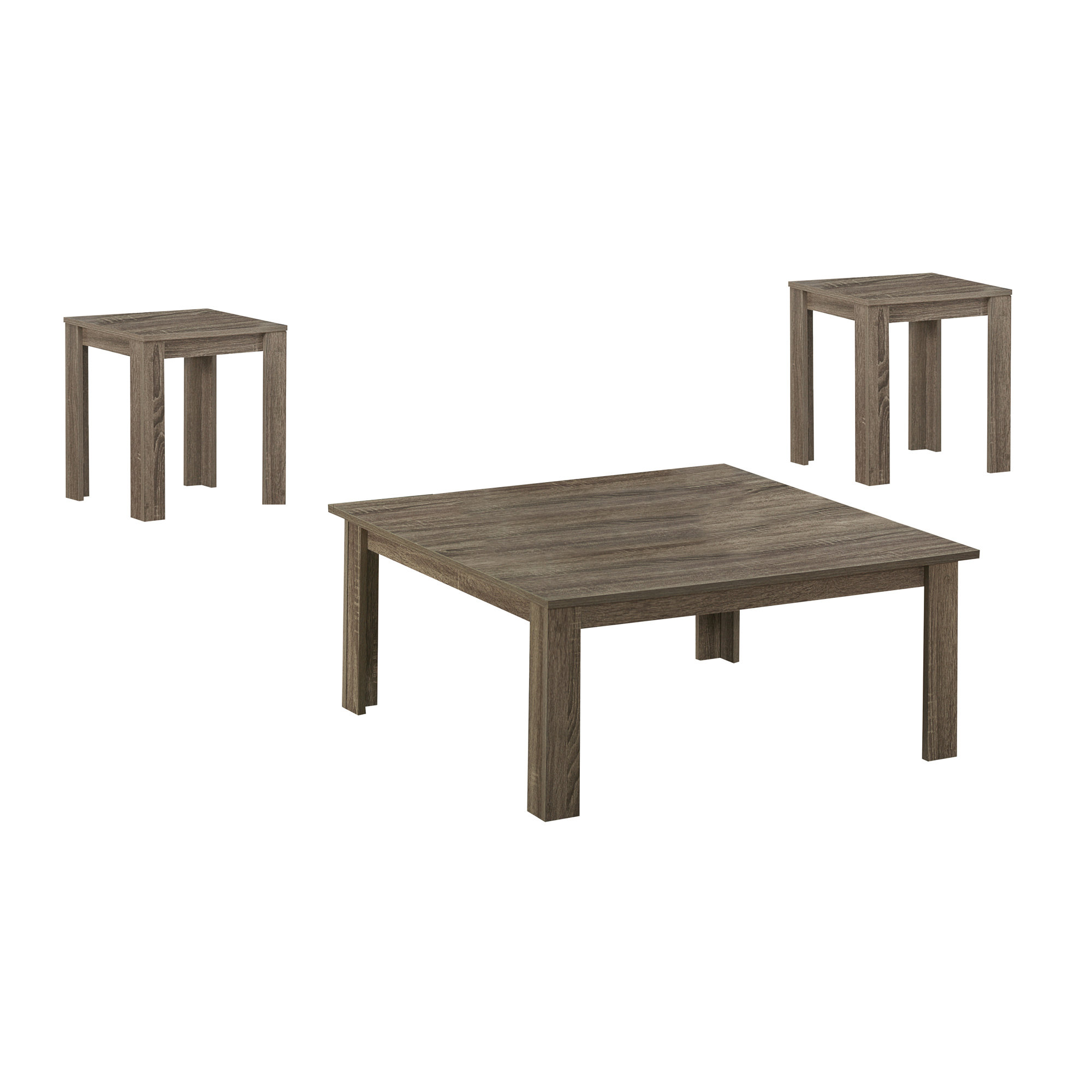 TABLE SET - 3PCS SET / DARK TAUPE