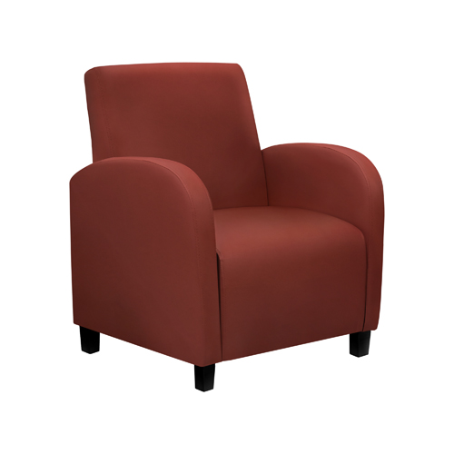 Accent Chair - Burgundy Leather-Look Fabric