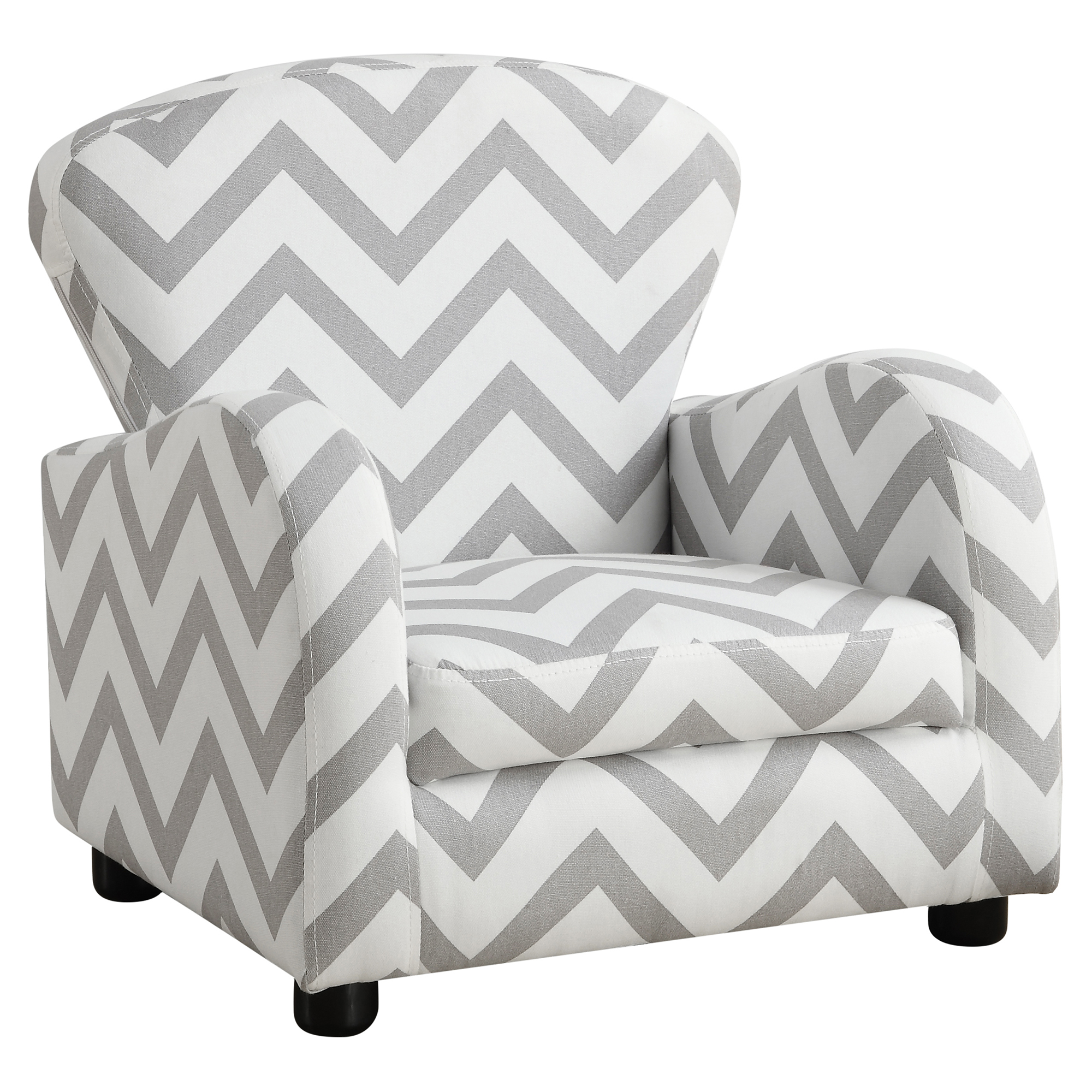JUVENILE CHAIR - GREY CHEVRON FABRIC
