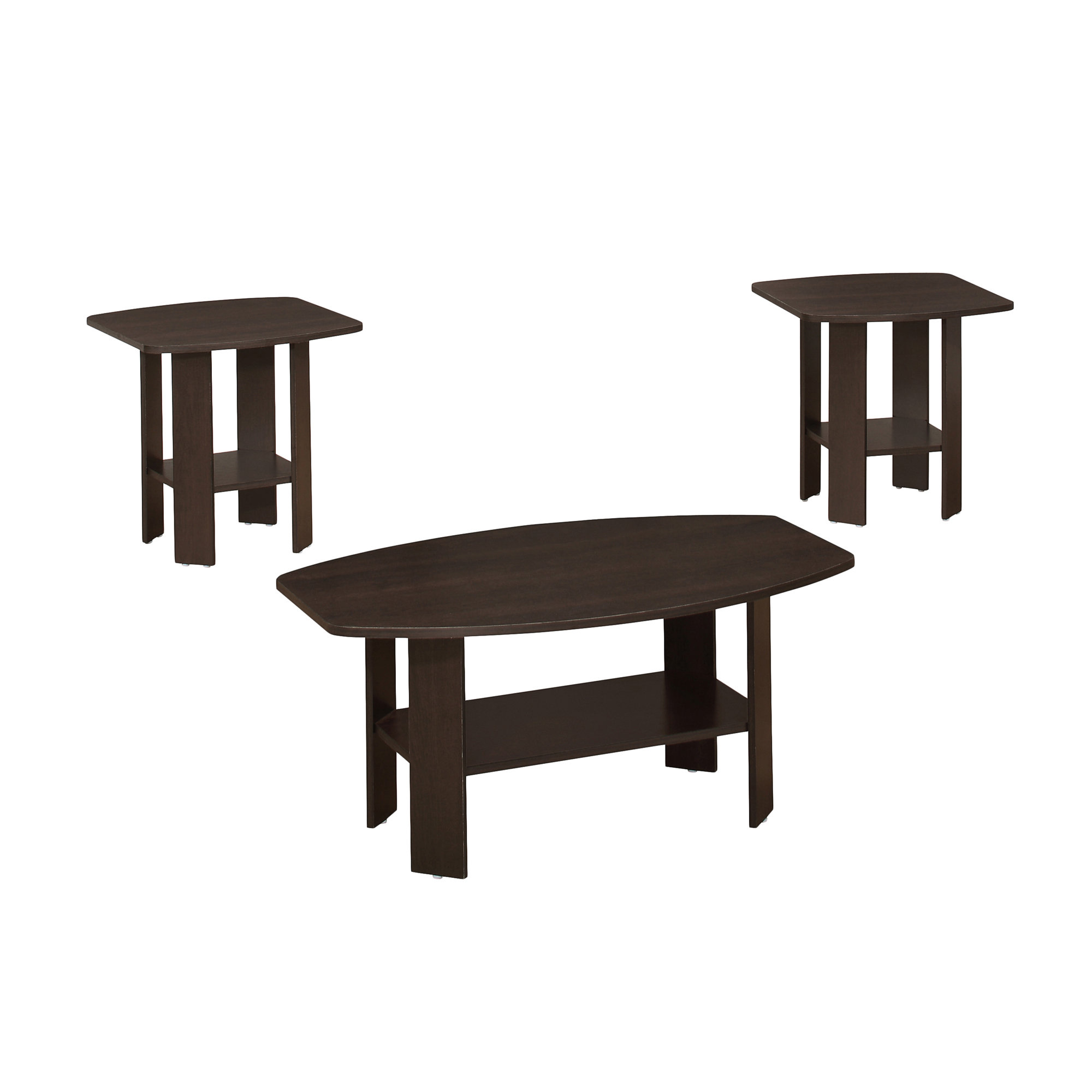 TABLE SET - 3PCS SET / CAPPUCCINO