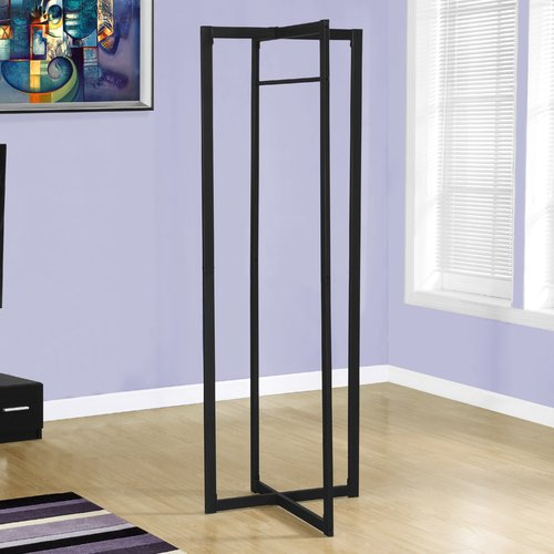 "Coat Rack - 72""H / Black Metal"