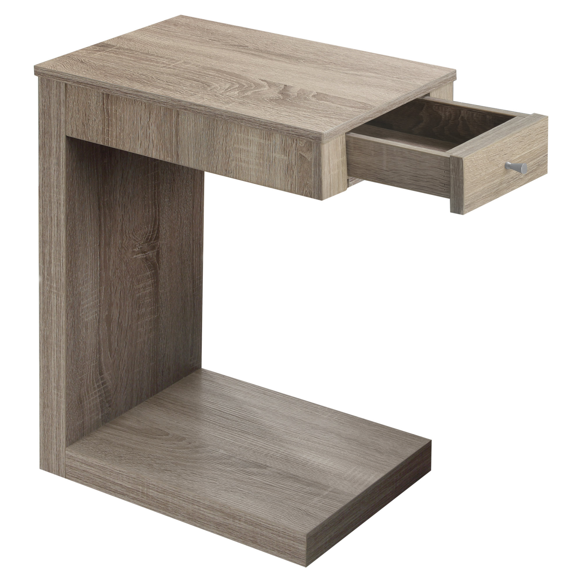 Accent Table - Dark Taupe With A Drawer