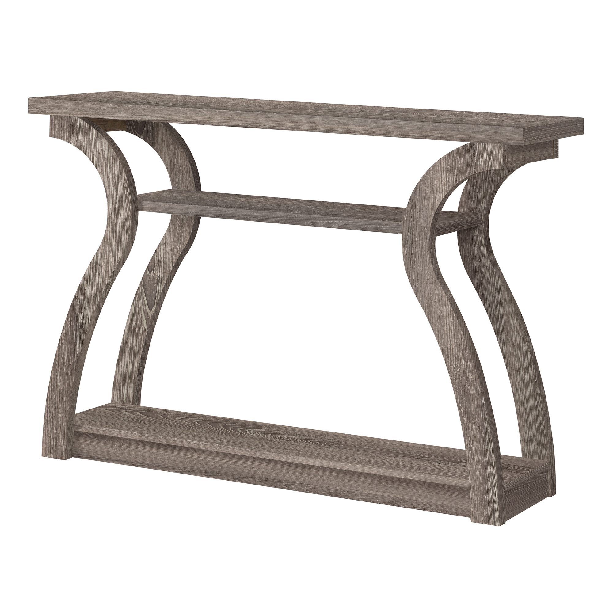 "47"" Hall Console Accent Table, Dark Taupe"