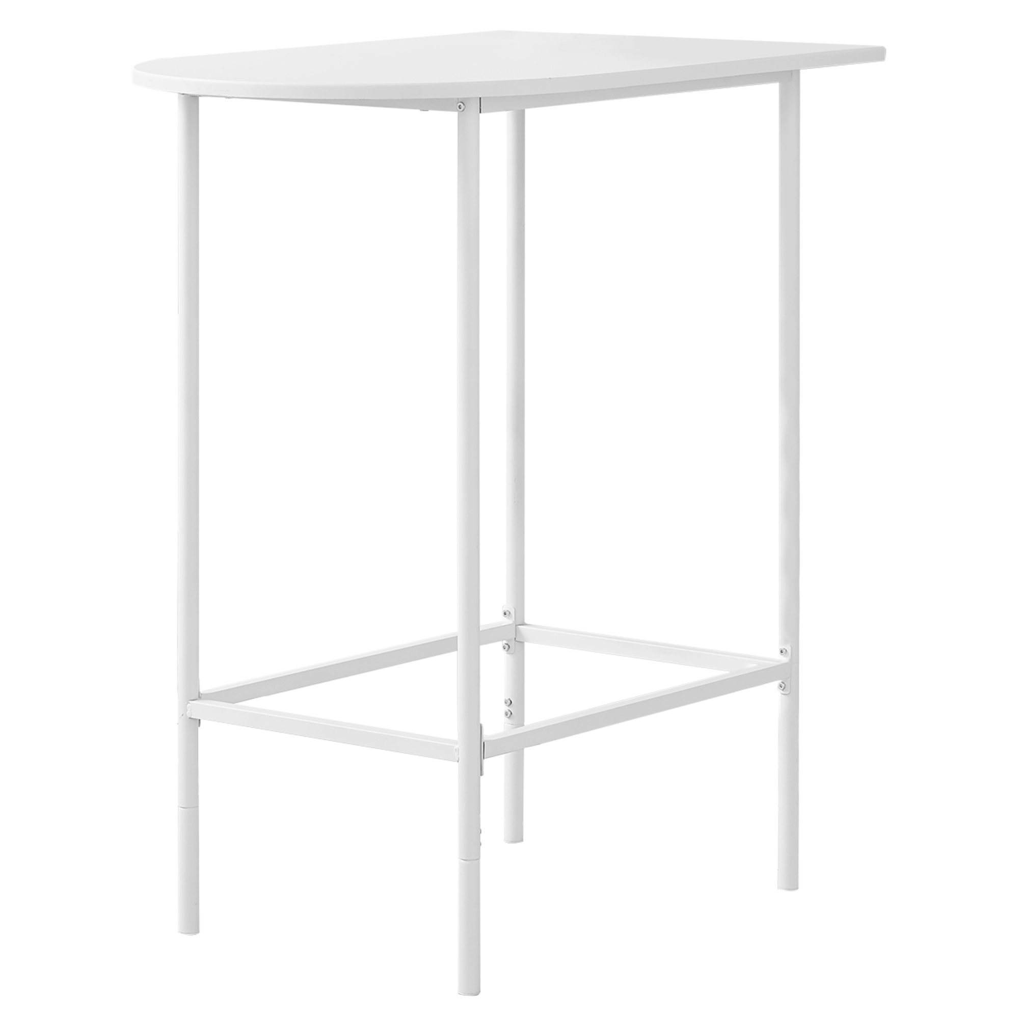 "HOME BAR - 24""X 36"" / WHITE TOP AND METAL SPACESAVER"