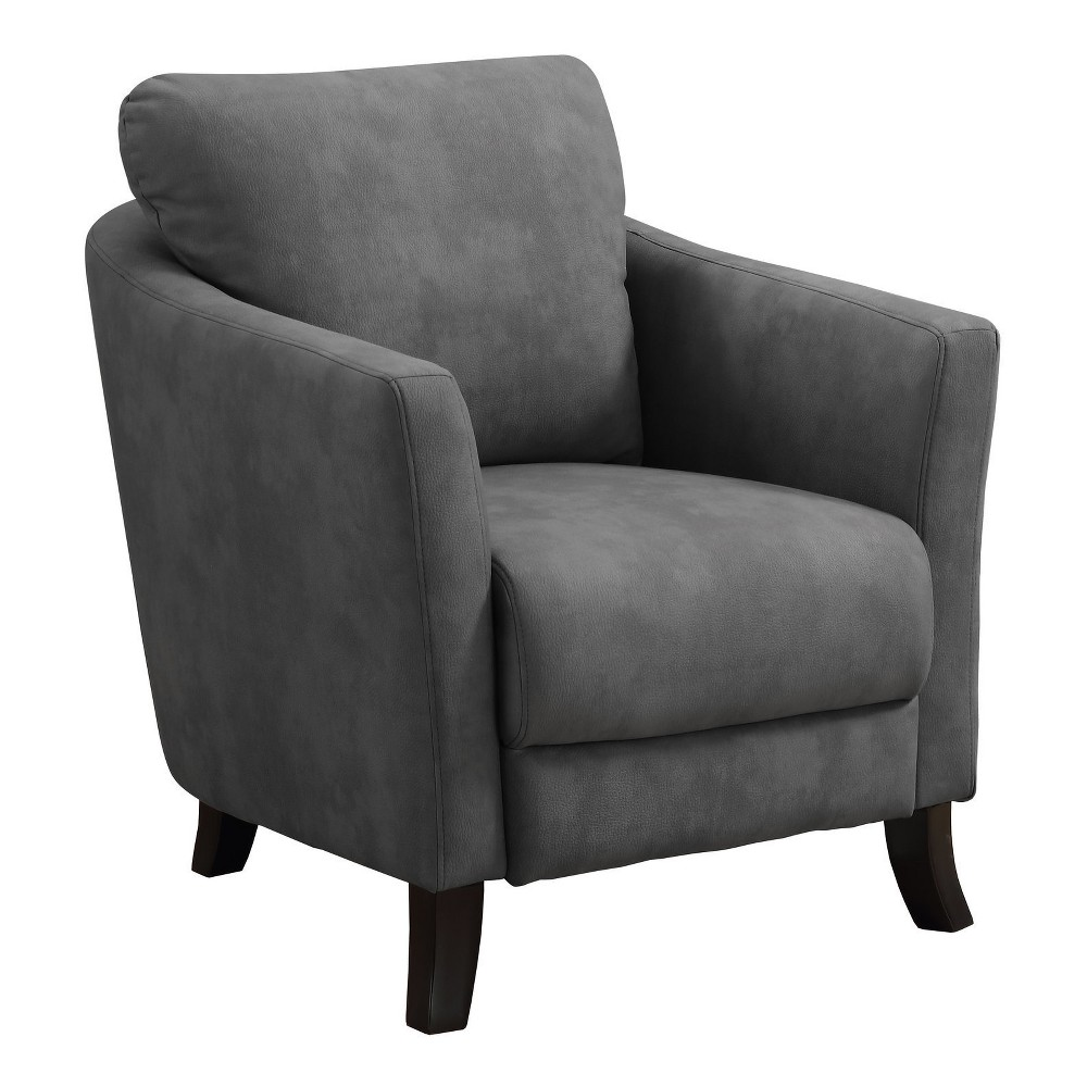 ACCENT CHAIR - GREY MICROFIBER FABRIC