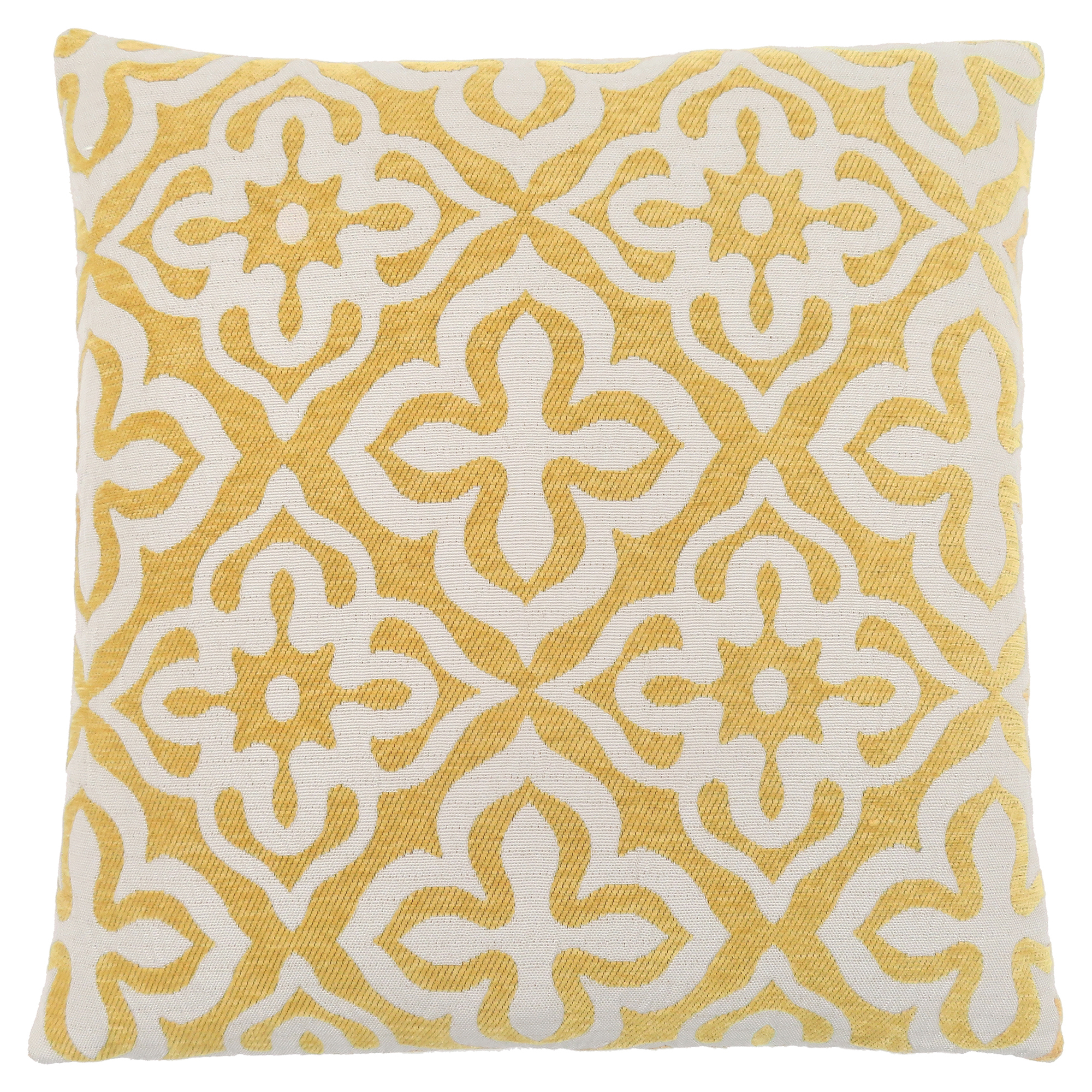 "PILLOW - 18""X 18"" / YELLOW MOTIF DESIGN / 1PC"