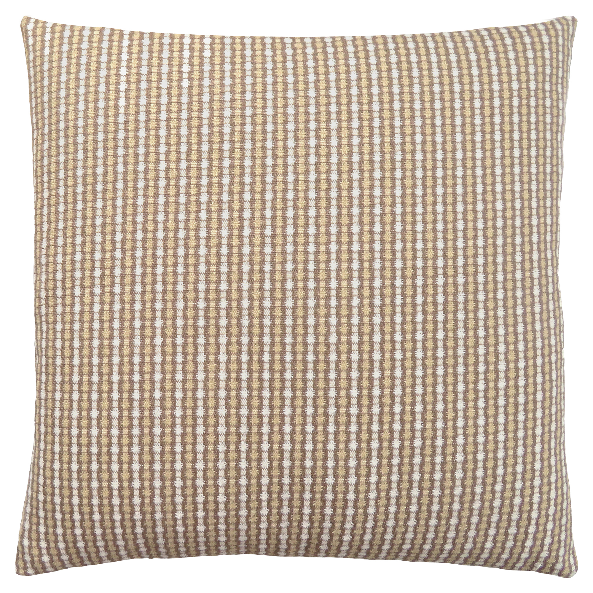 "PILLOW - 18""X 18"" / LIGHT / DARK TAUPE ABSTRACT DOT / 1PC"