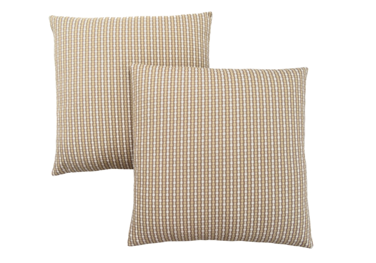 "PILLOW - 18""X 18"" / LIGHT / DARK TAUPE ABSTRACT DOT / 2PC"
