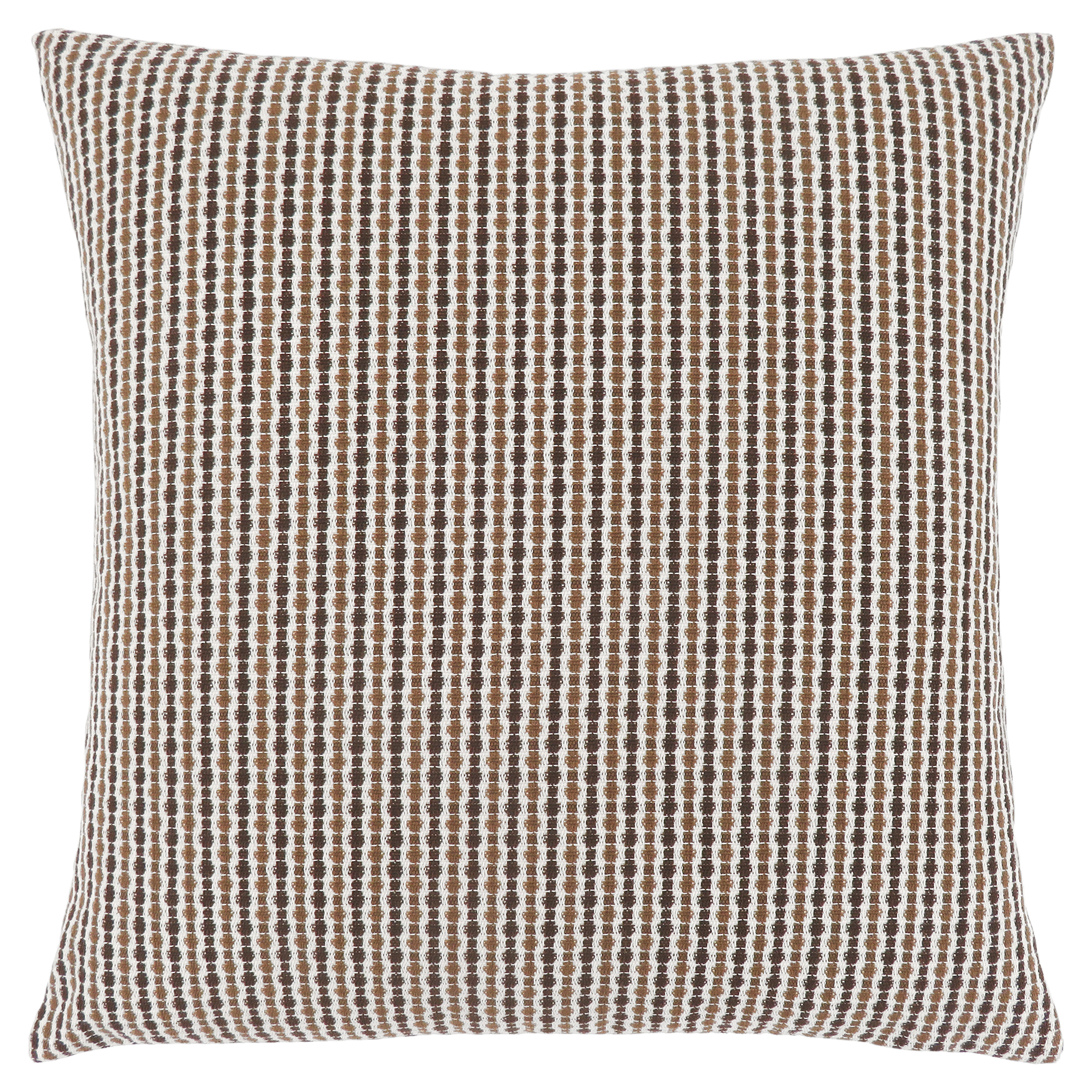 "PILLOW - 18""X 18"" / LIGHT / DARK BROWN ABSTRACT DOT / 1PC"