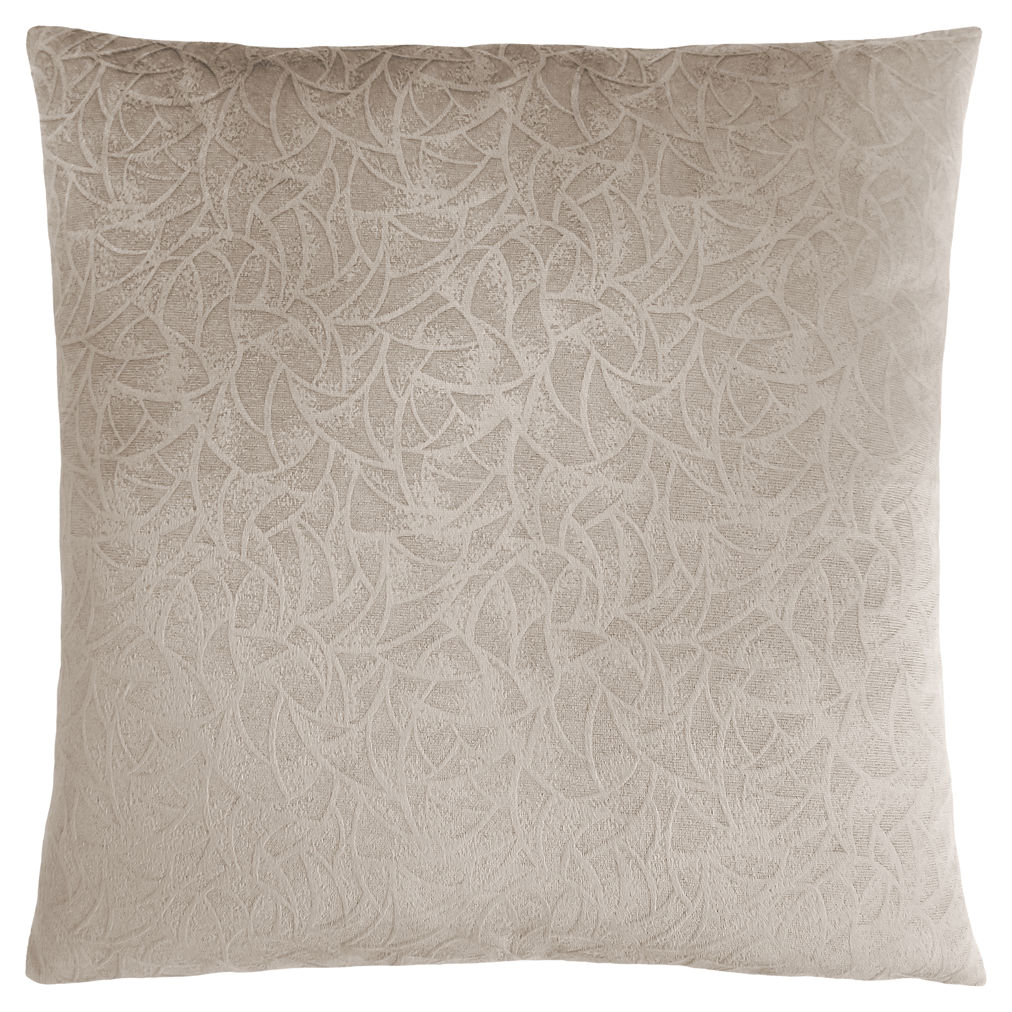 "PILLOW - 18""X 18"" / TAUPE FLORAL VELVET / 1PC"