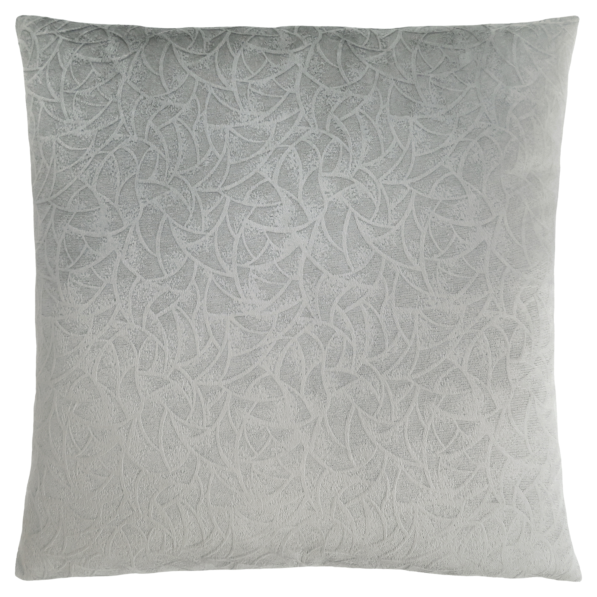 "PILLOW - 18""X 18"" / LIGHT GREY FLORAL VELVET / 1PC"