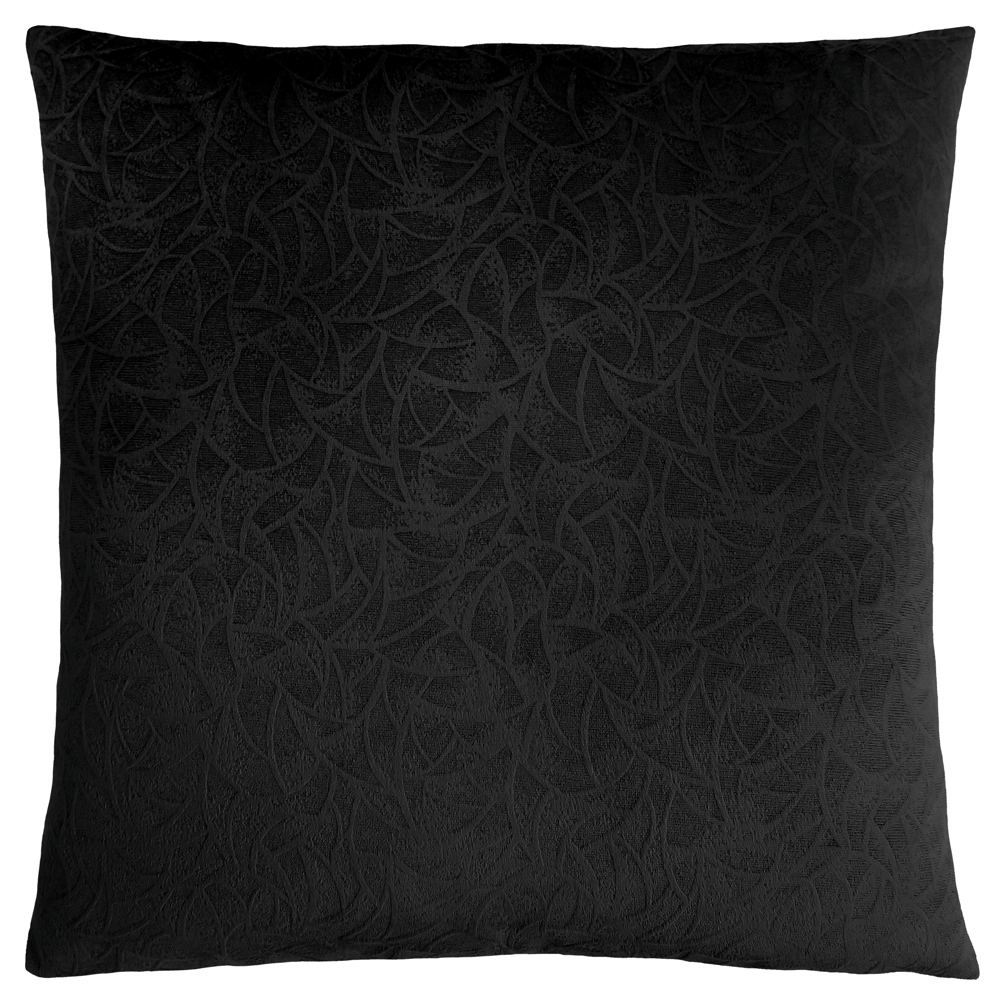 "PILLOW - 18""X 18"" / BLACK FLORAL VELVET / 1PC"