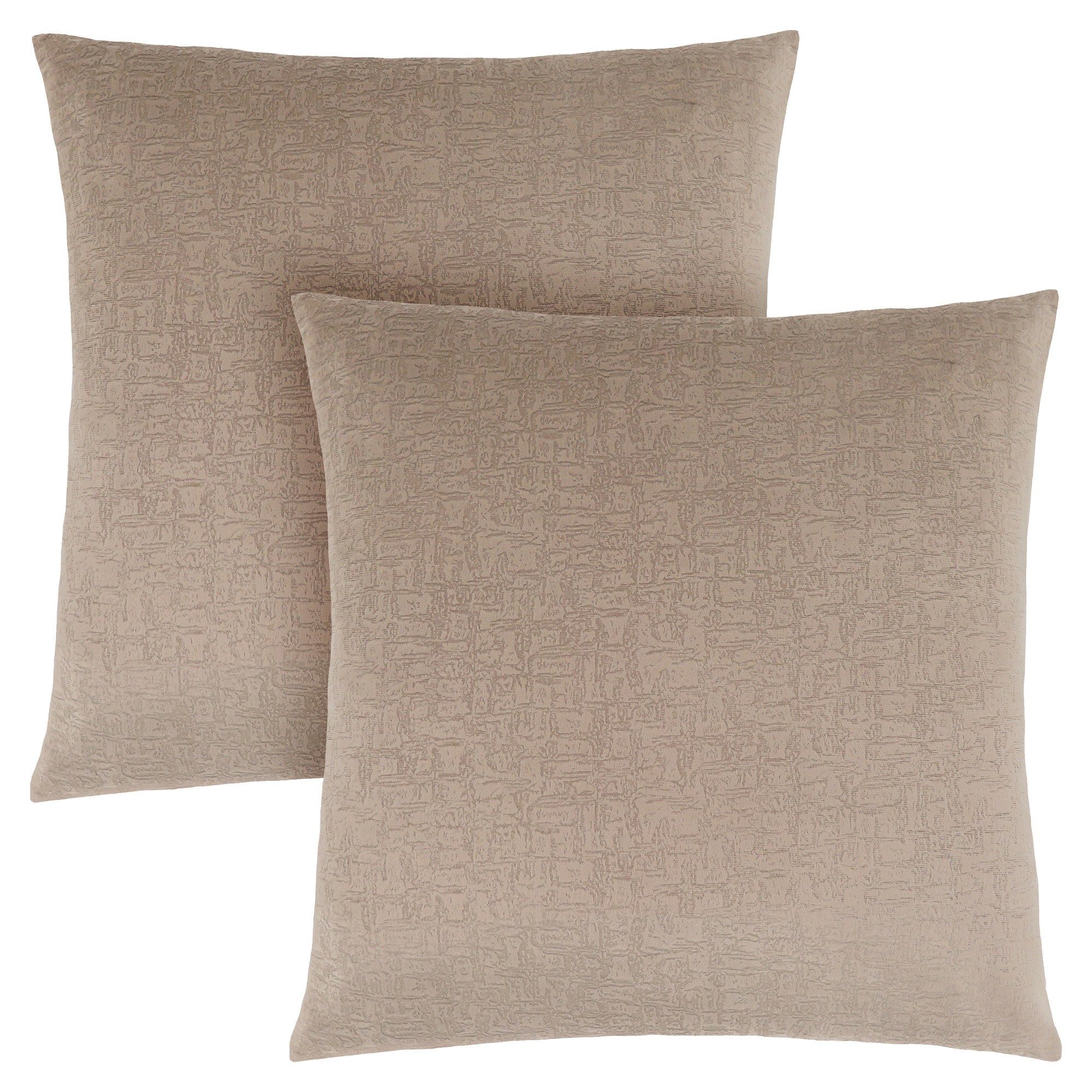 "PILLOW - 18""X 18"" / TAUPE MOSAIC VELVET / 2PCS"