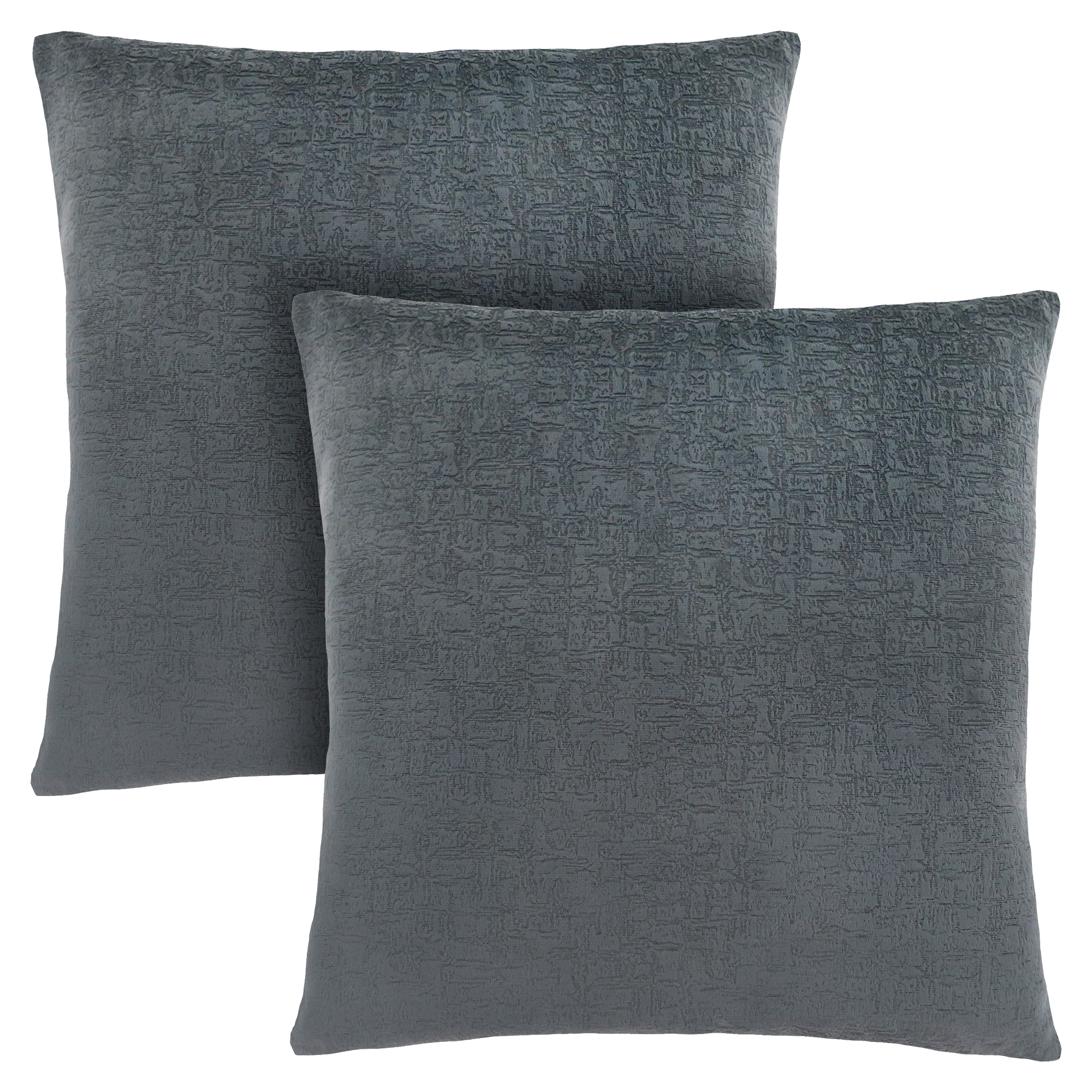 "PILLOW - 18""X 18"" / DARK GREY MOSAIC VELVET / 2PCS"