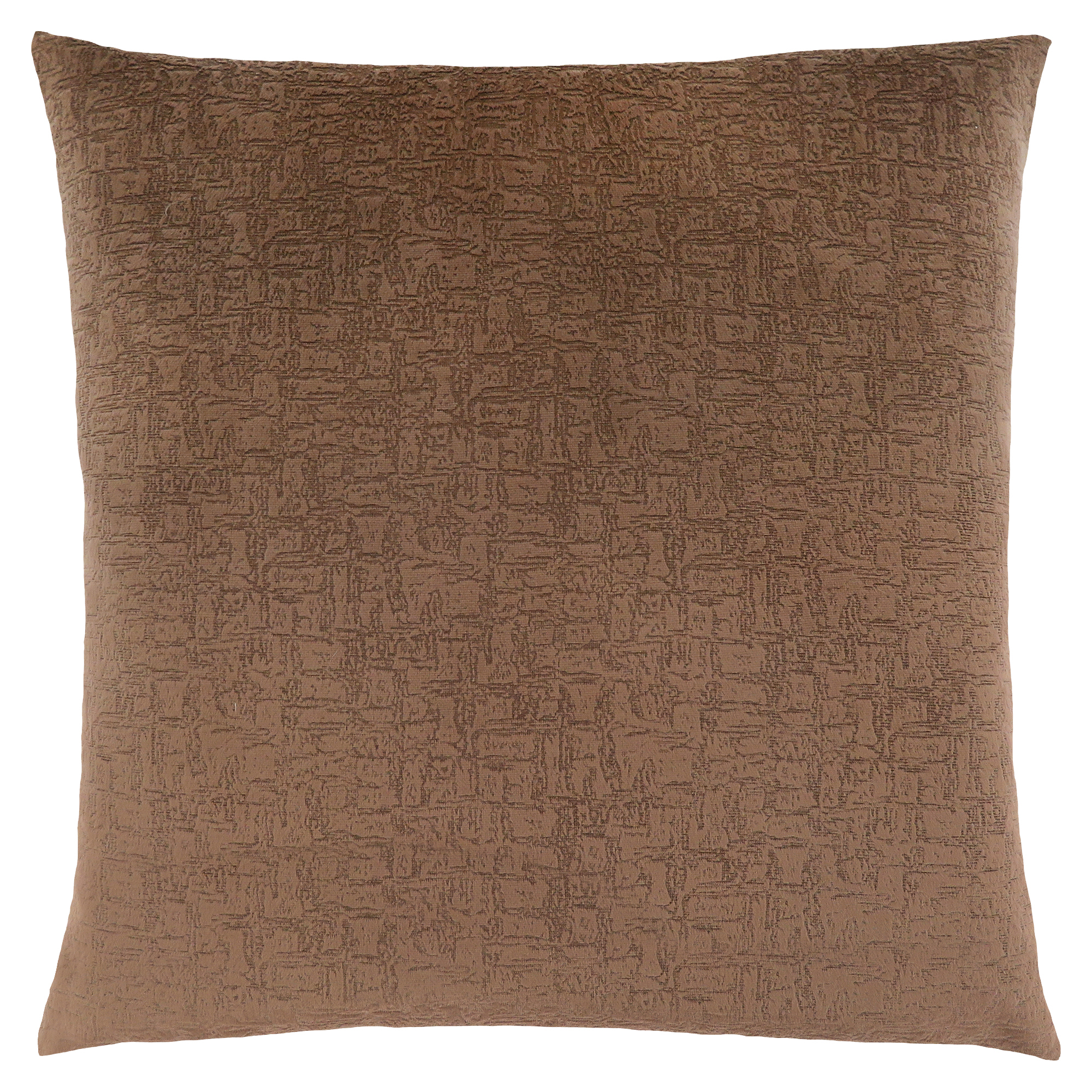 "PILLOW - 18""X 18"" / LIGHT BROWN MOSAIC VELVET / 1PC"