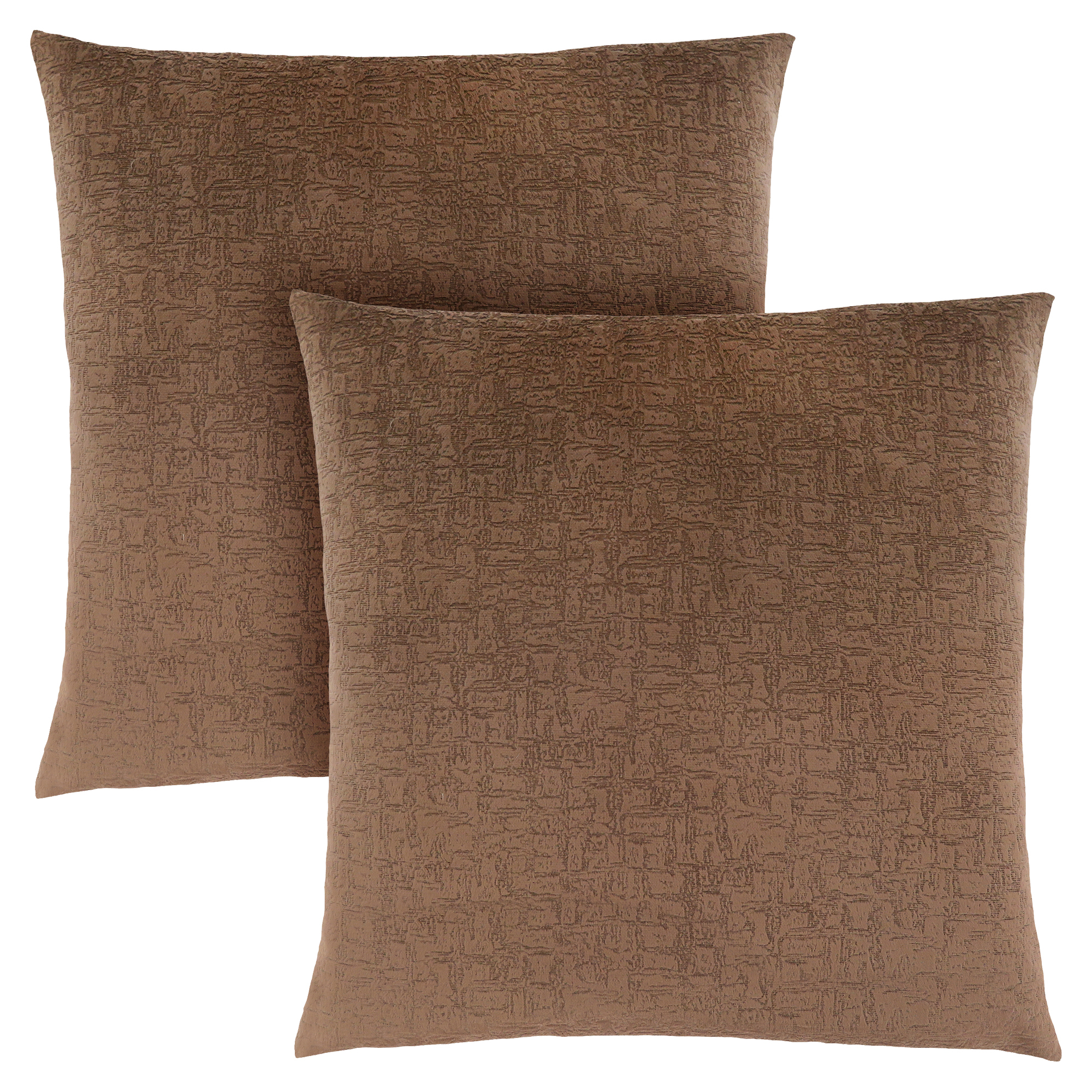 "PILLOW - 18""X 18"" / LIGHT BROWN MOSAIC VELVET / 2PCS"