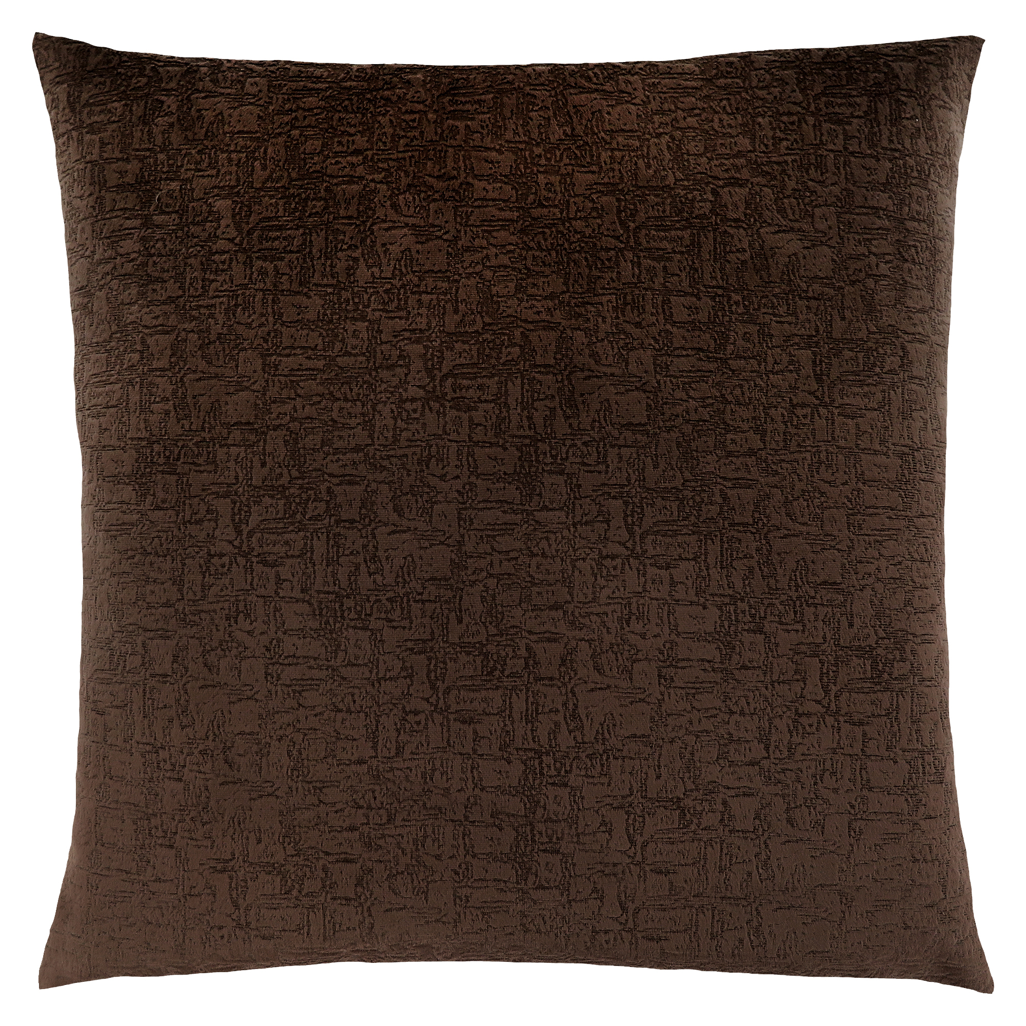 "PILLOW - 18""X 18"" / DARK BROWN MOSAIC VELVET / 1PC"