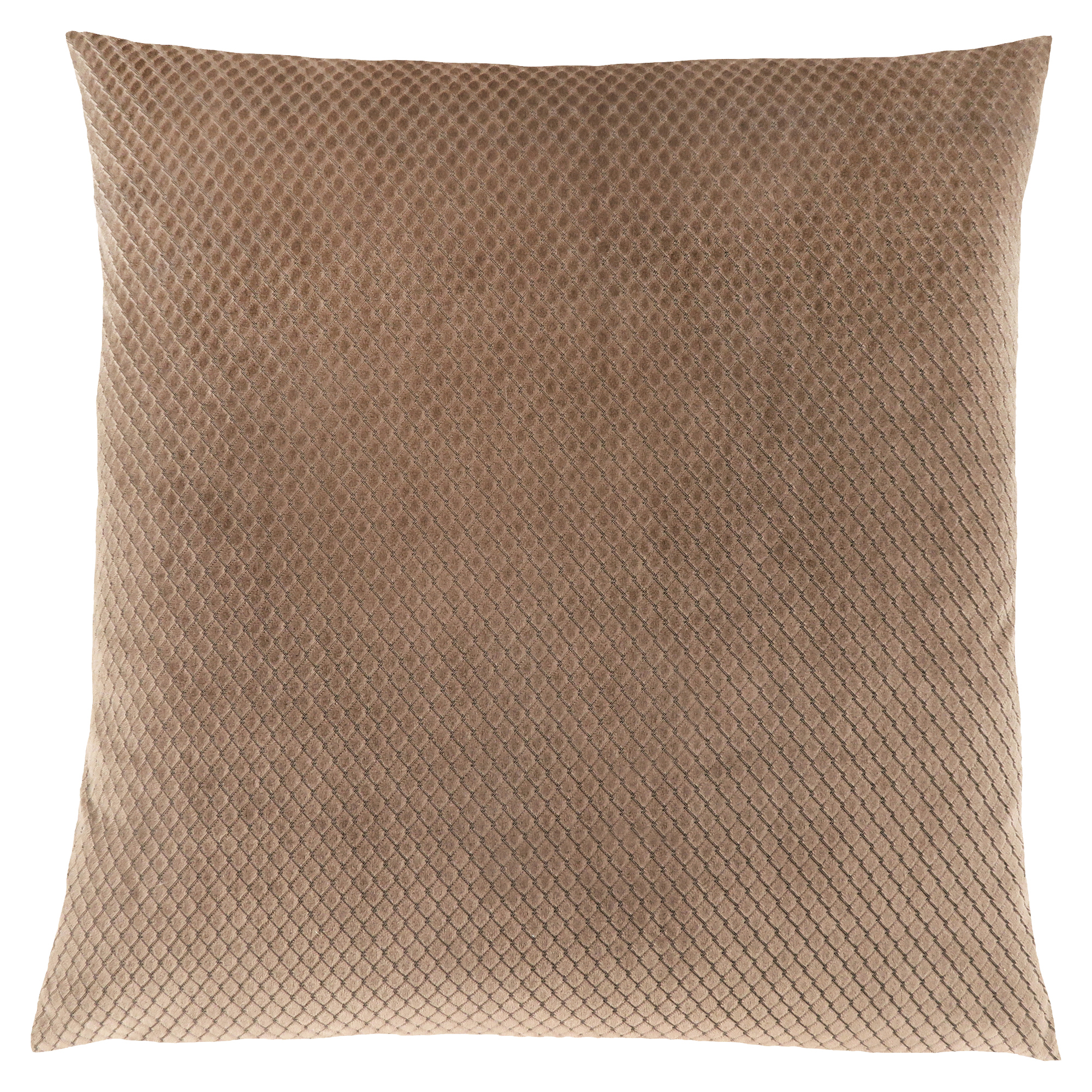 "PILLOW - 18""X 18"" / BEIGE DIAMOND VELVET / 1PC"