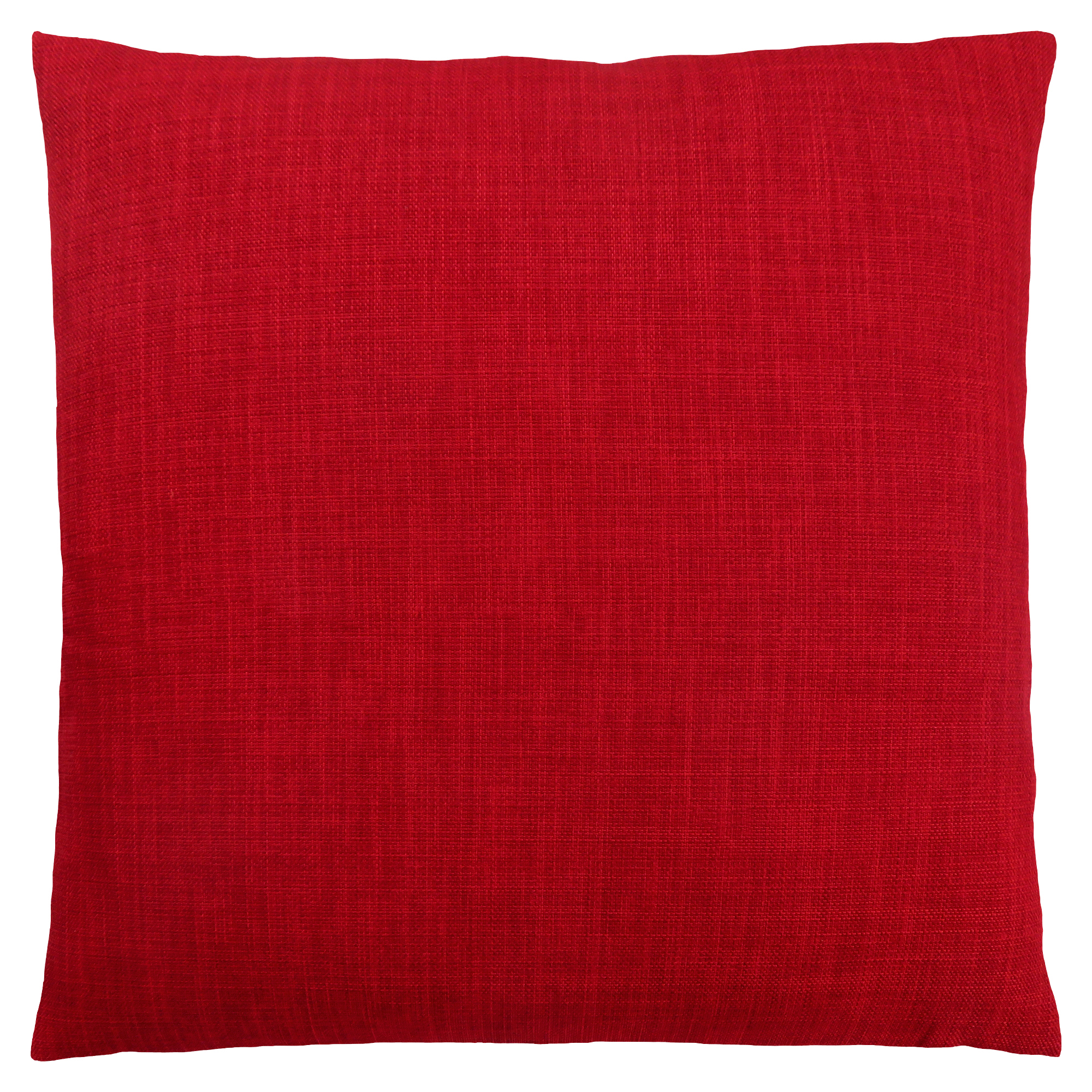 "PILLOW - 18""X 18"" / LINEN PATTERNED RED / 1PC"