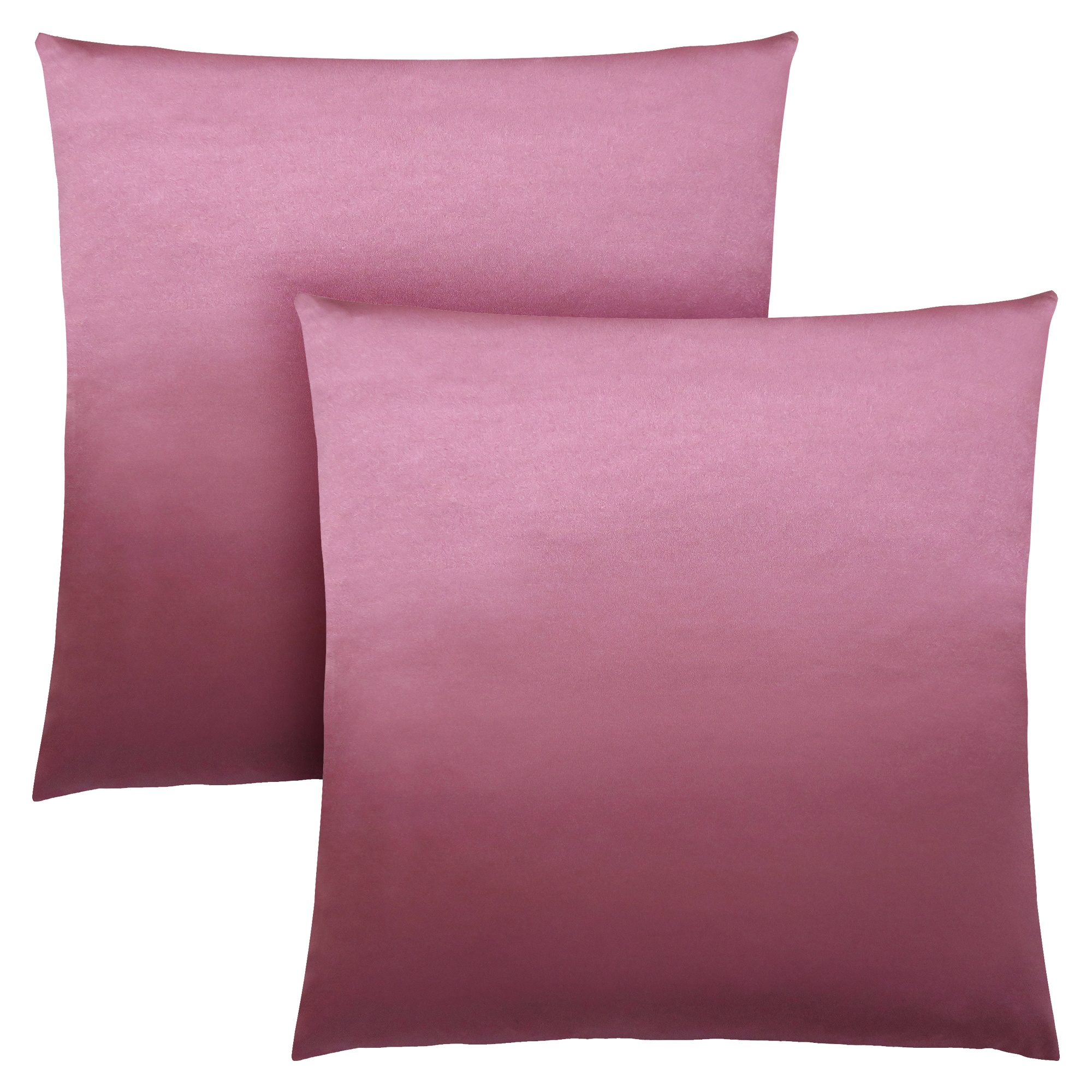 "PILLOW - 18""X 18"" / PINK SATIN / 2PCS"