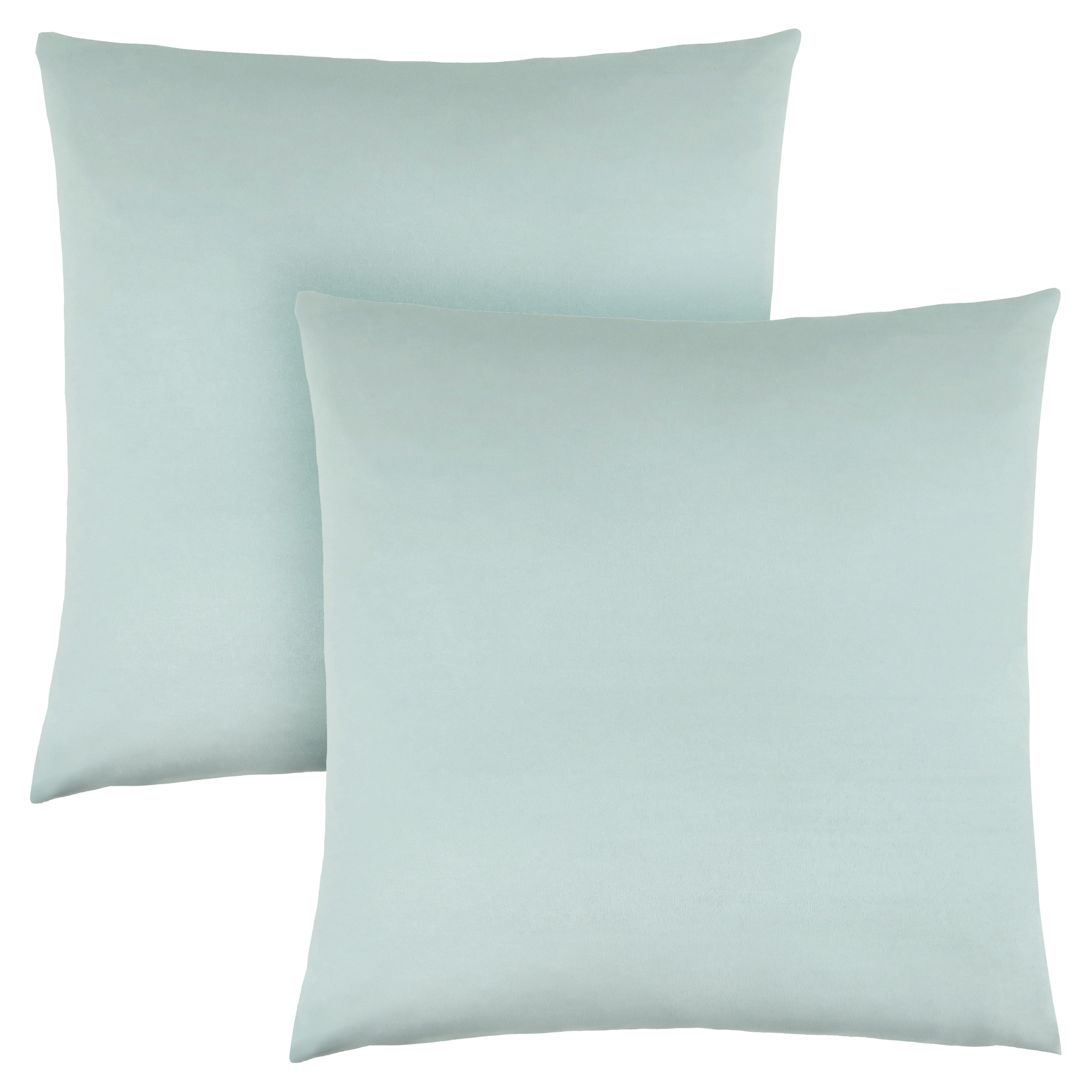 "PILLOW - 18""X 18"" / MINT SATIN / 2PCS"