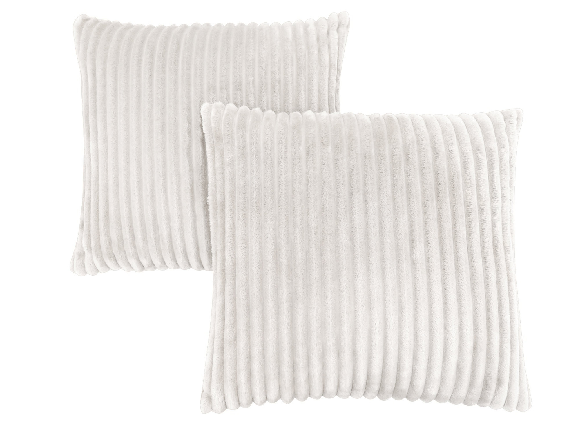 "PILLOW - 18""X 18"" / IVORY TEXTURED RIB / 2PCS"