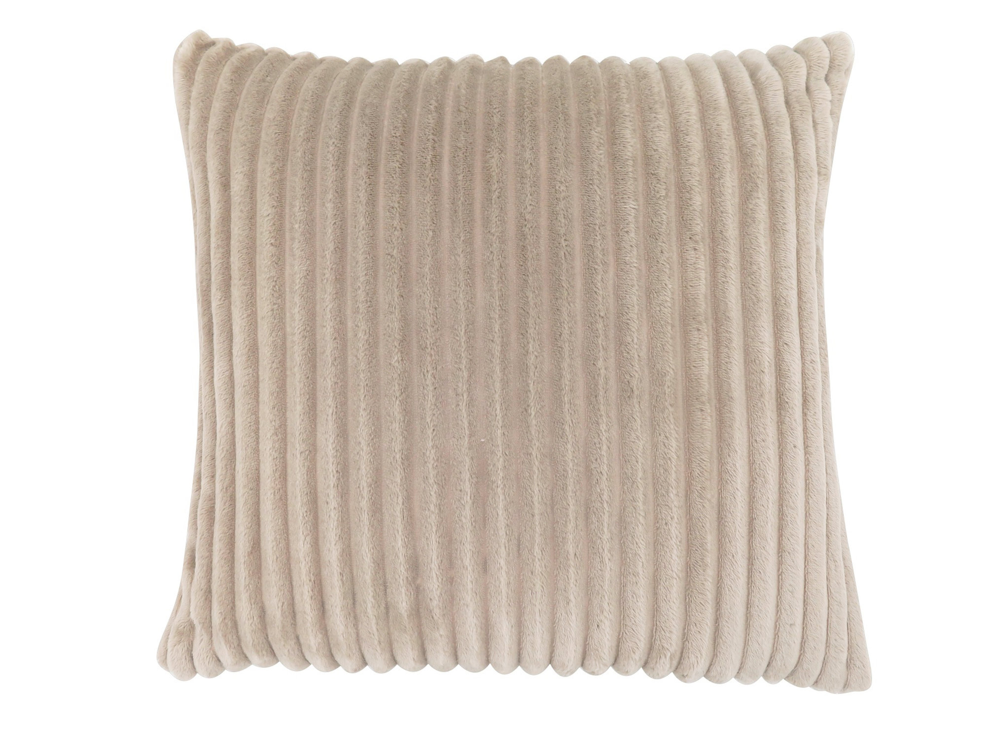 "PILLOW - 18""X 18"" / BEIGE TEXTURED RIB / 1PC"