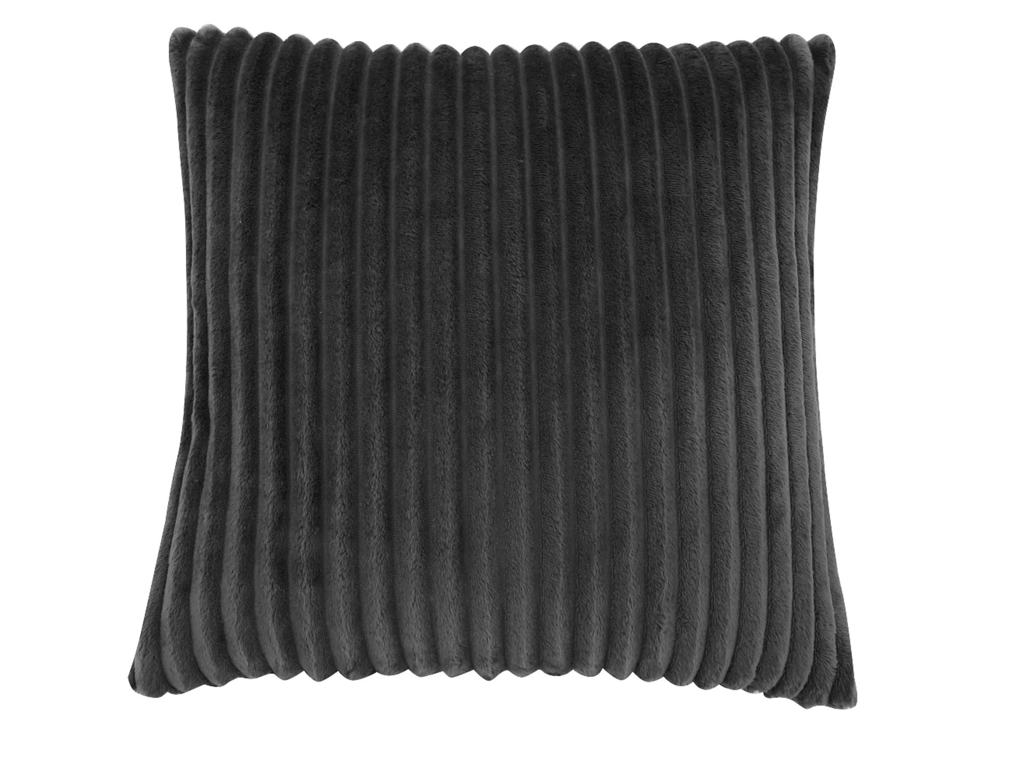 "PILLOW - 18""X 18"" / BLACK TEXTURED RIB / 1PC"
