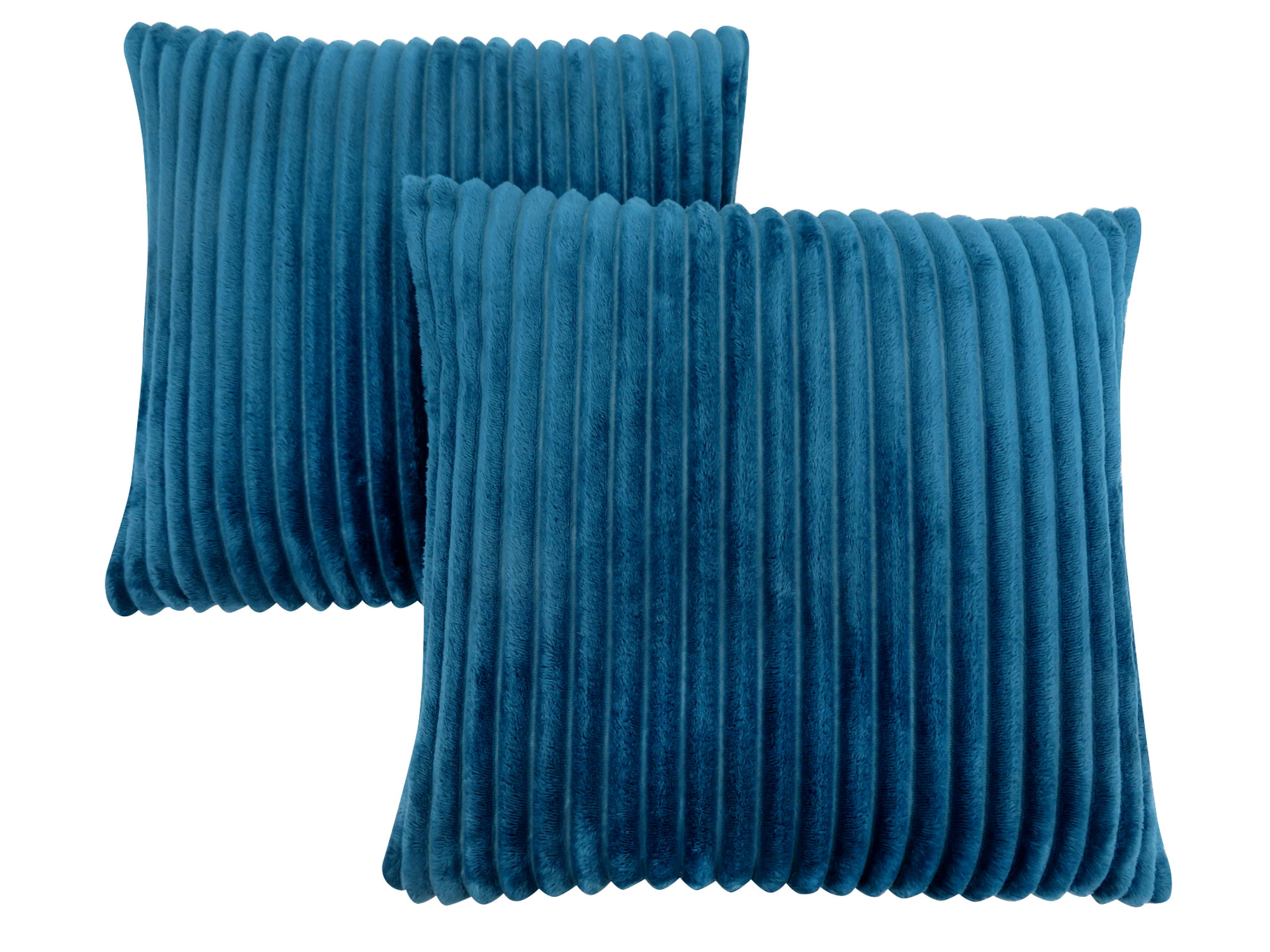 "PILLOW - 18""X 18"" / BLUE TEXTURED RIB / 2PCS"