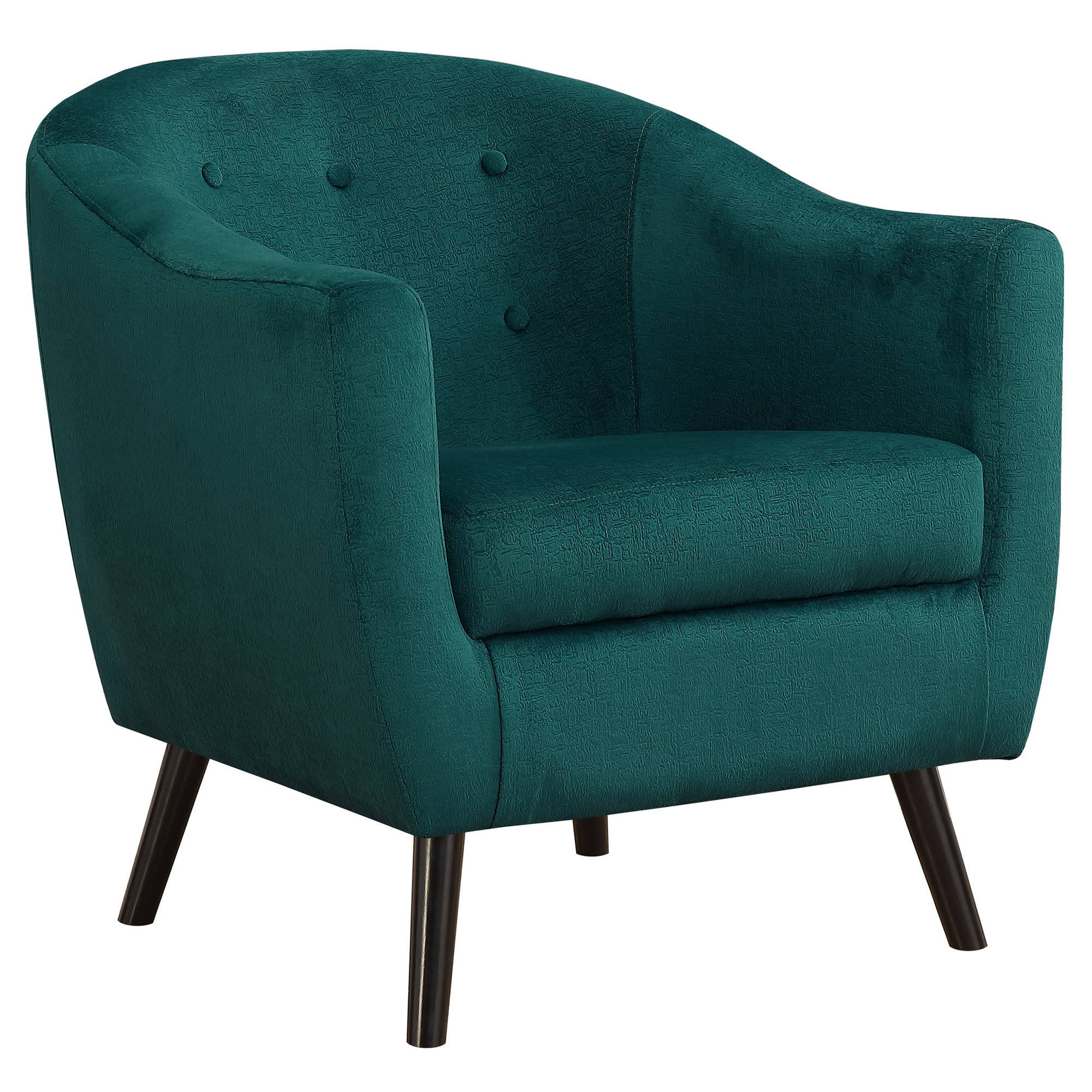 ACCENT CHAIR - EMERALD GREEN MOSAIC VELVET