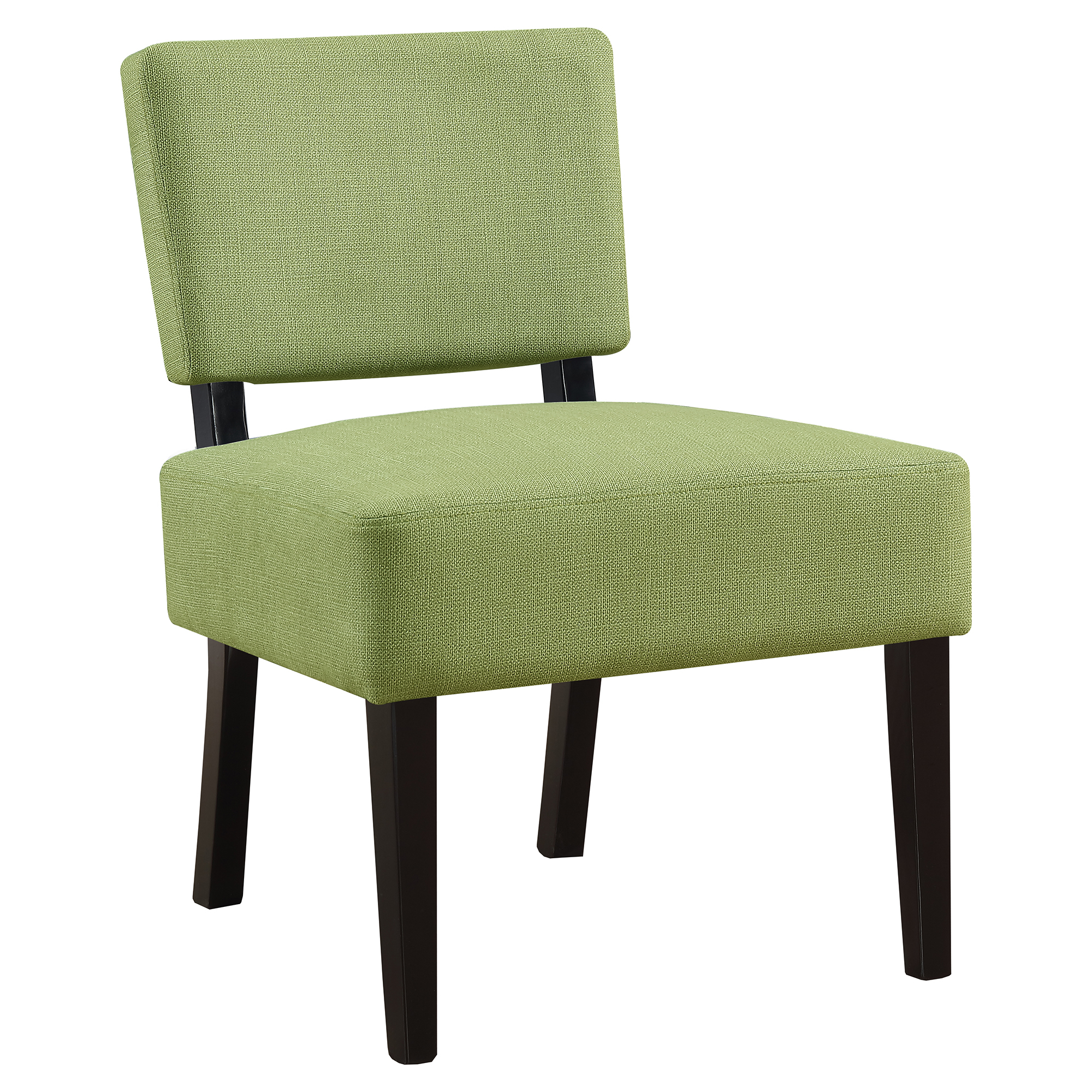 ACCENT CHAIR - LIME GREEN FABRIC